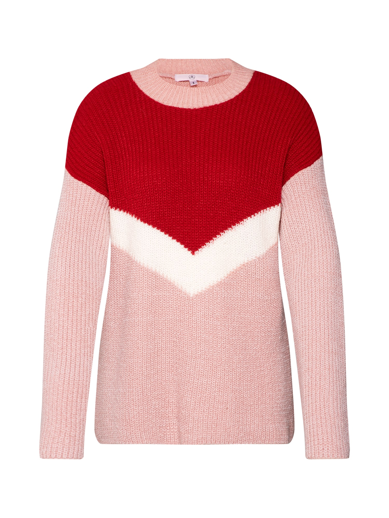 Pullover 'CHEVRON' | Bekleidung > Pullover | Rosa - Rot - Weiß | Missguided