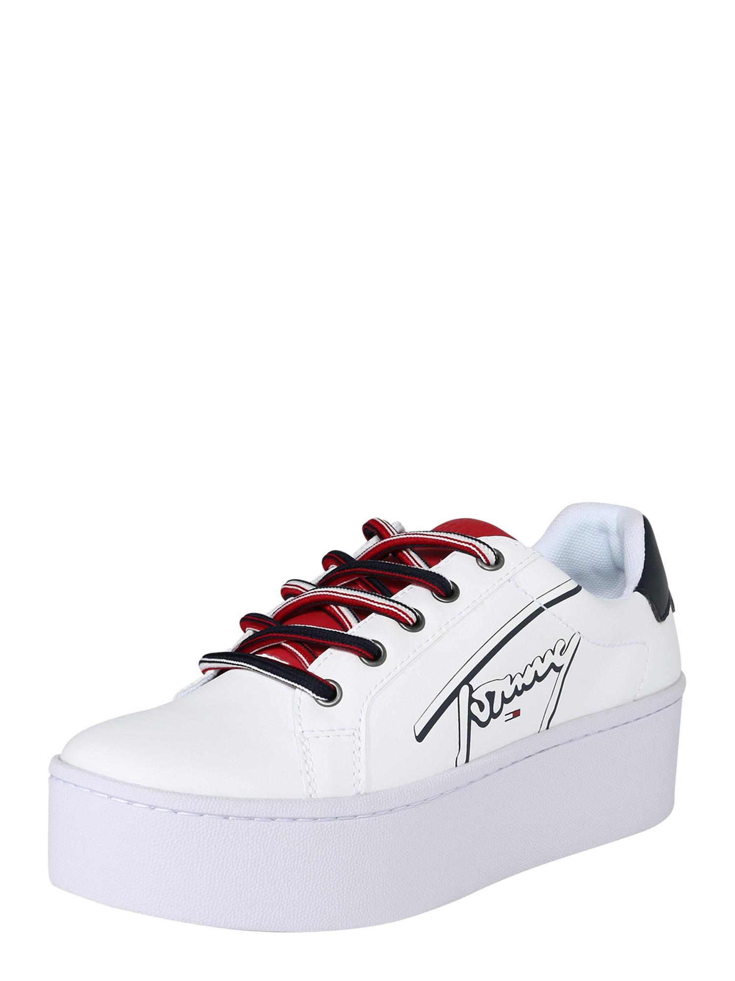 Tenisky TOMMY SIGNATURE FLATFORM bílá Tommy Jeans