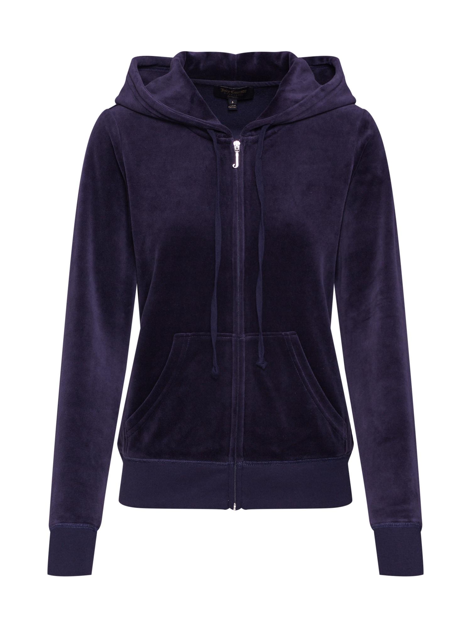 Mikina s kapucí Velour Robertson námořnická modř Juicy Couture Black Label