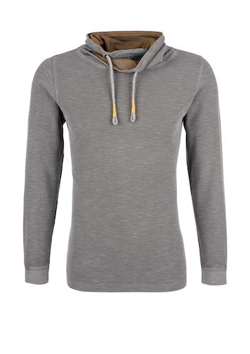 S.Oliver RED LABEL Sweatshirt mit gelayertem Kragen Sale Angebote Grabko
