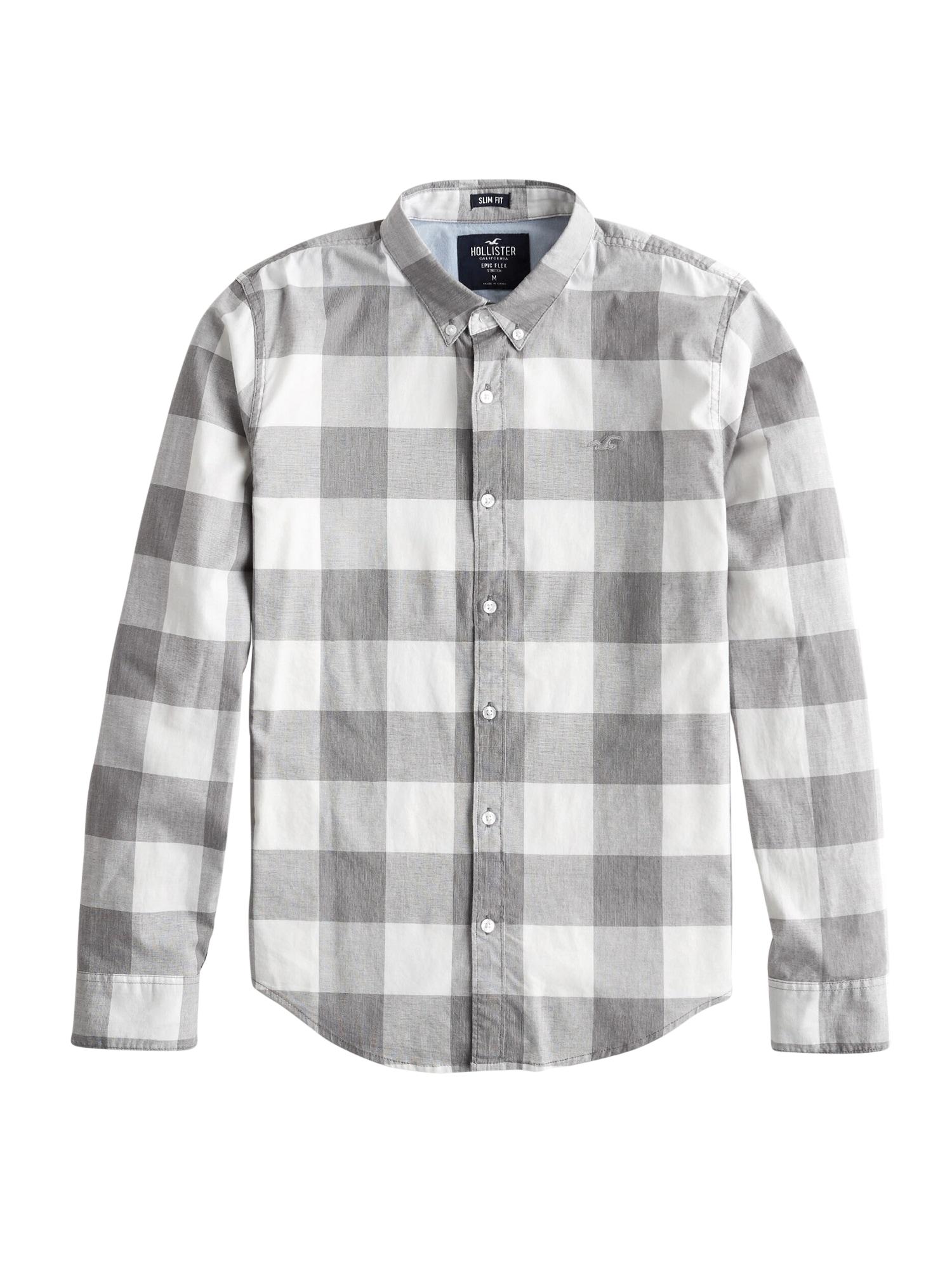 Košile šedá bílá HOLLISTER