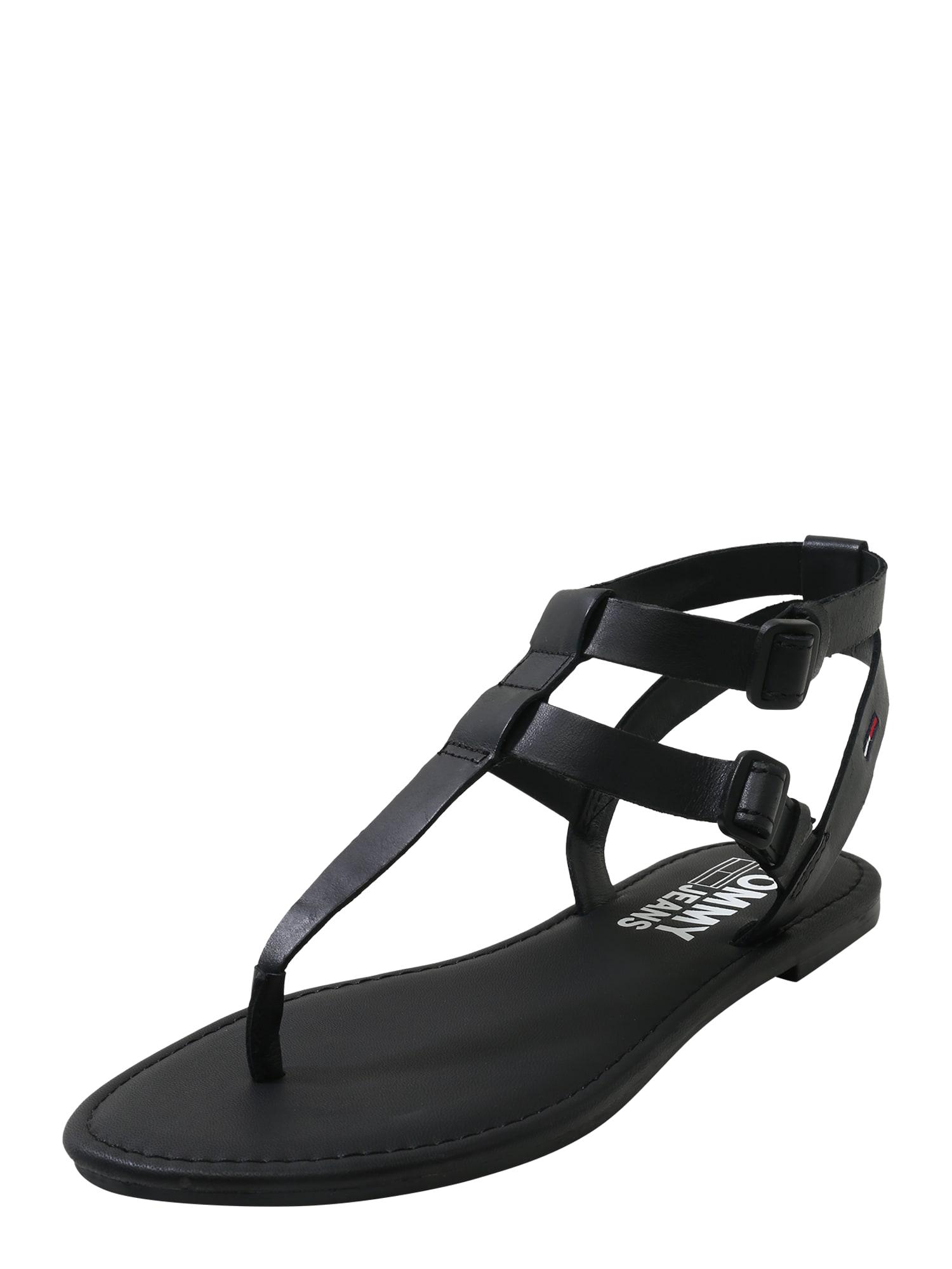 Tommy Jeans Remienkové sandále 'SUSY 19A'  čierna