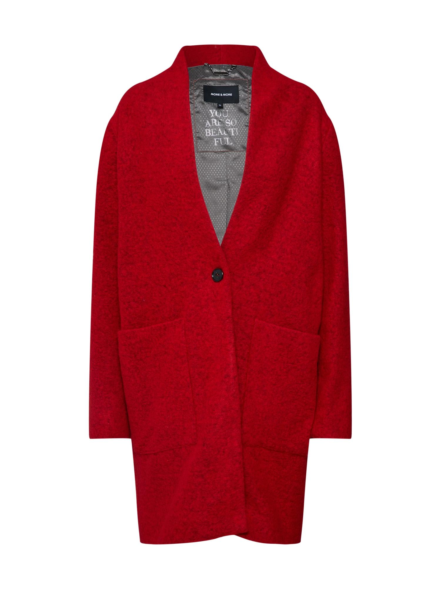 Přechodný kabát ohnivá červená MORE & MORE