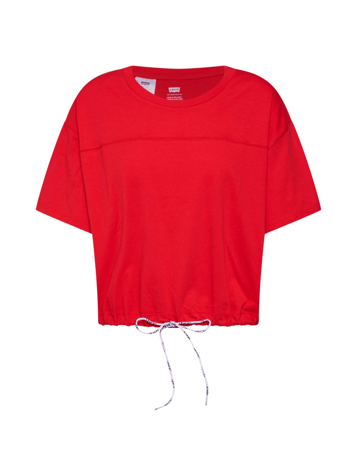 LEVIS Tričko DRAWSTRING TEE červená LEVI'S