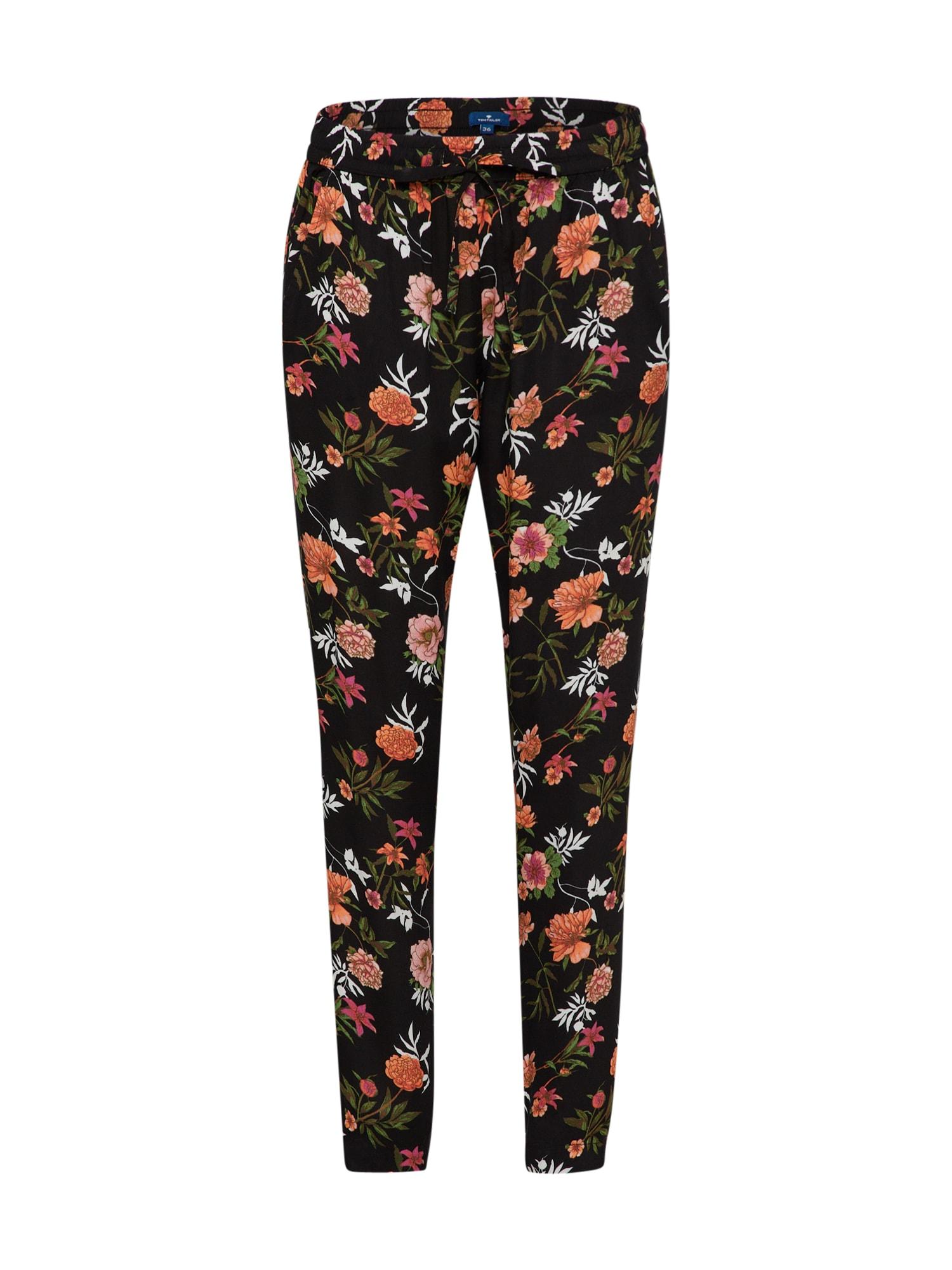 Harémové kalhoty mix barev černá TOM TAILOR