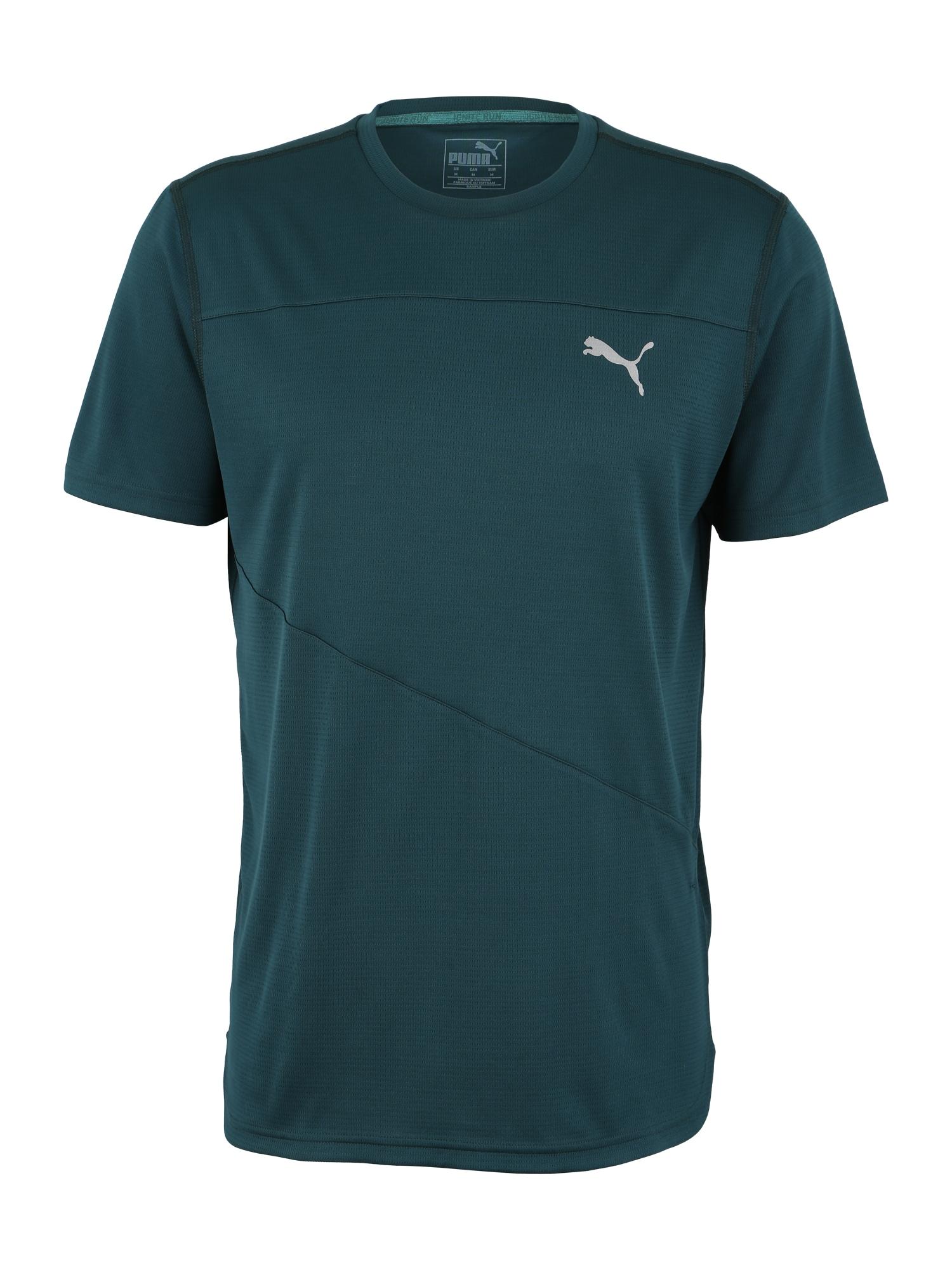 Funkční tričko Ignite šedá tmavě zelená PUMA