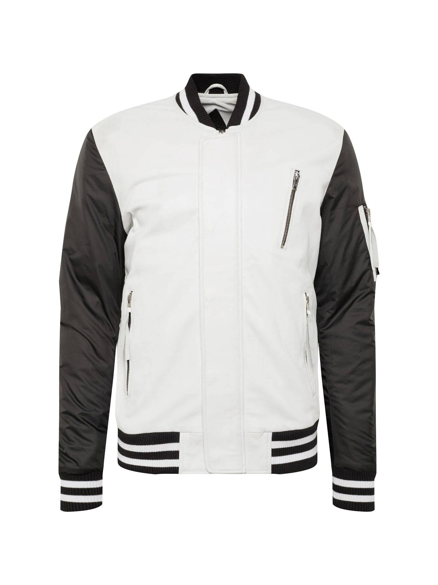 Přechodná bunda BEsascha černá bílá BE EDGY