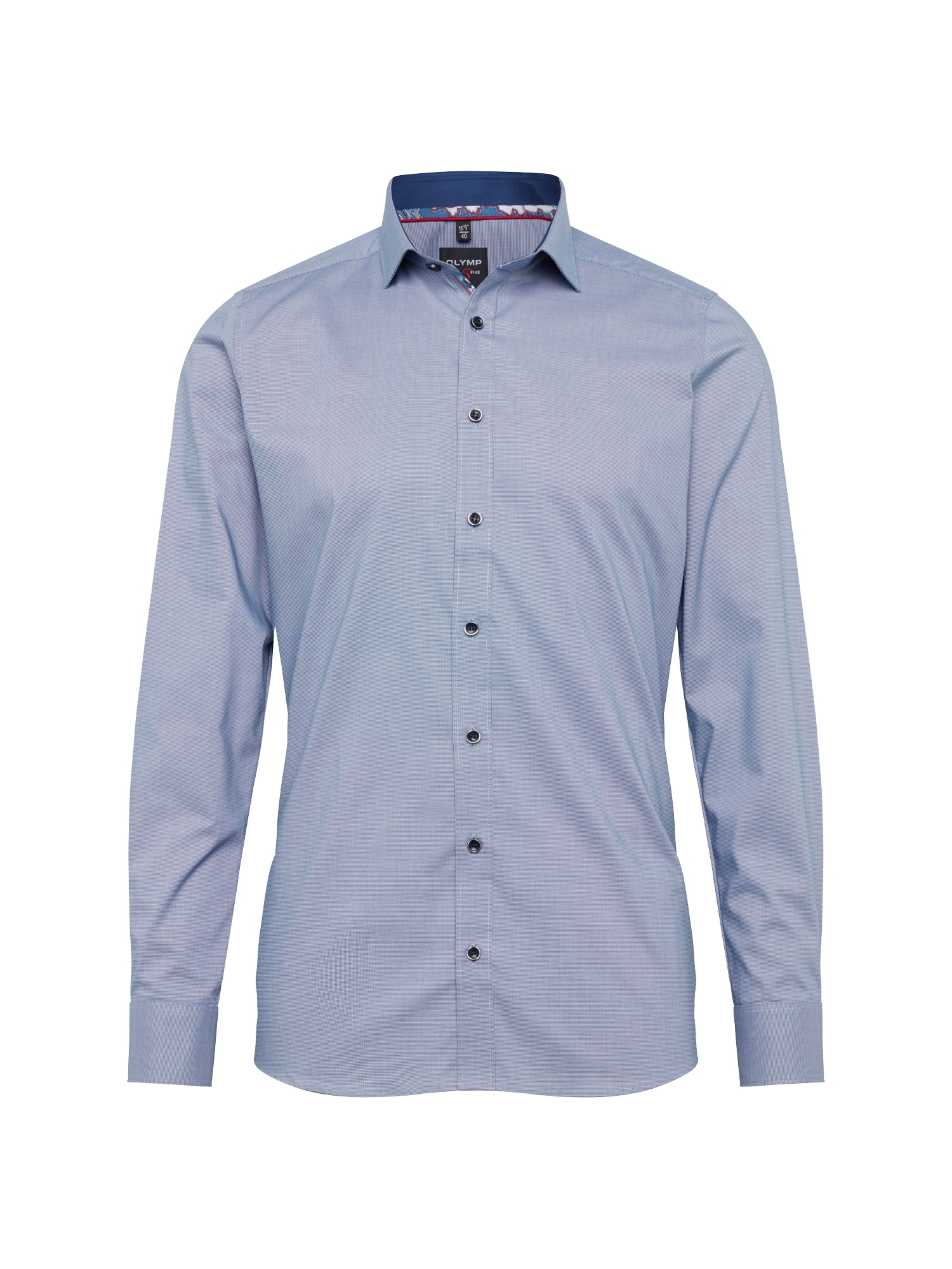 Košile Level 5 City Uni Struktur nebeská modř OLYMP
