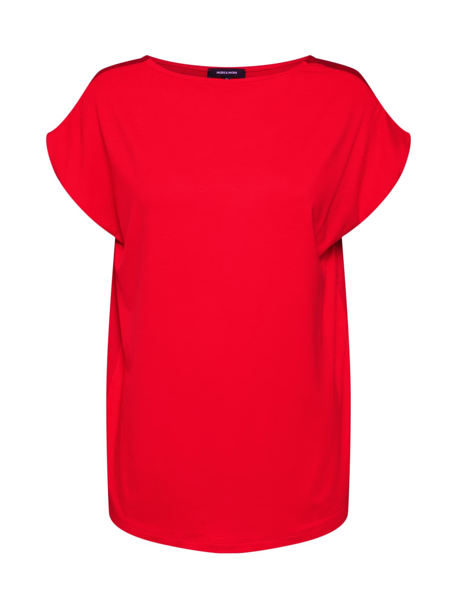 Tričko Active oranžově červená MORE & MORE