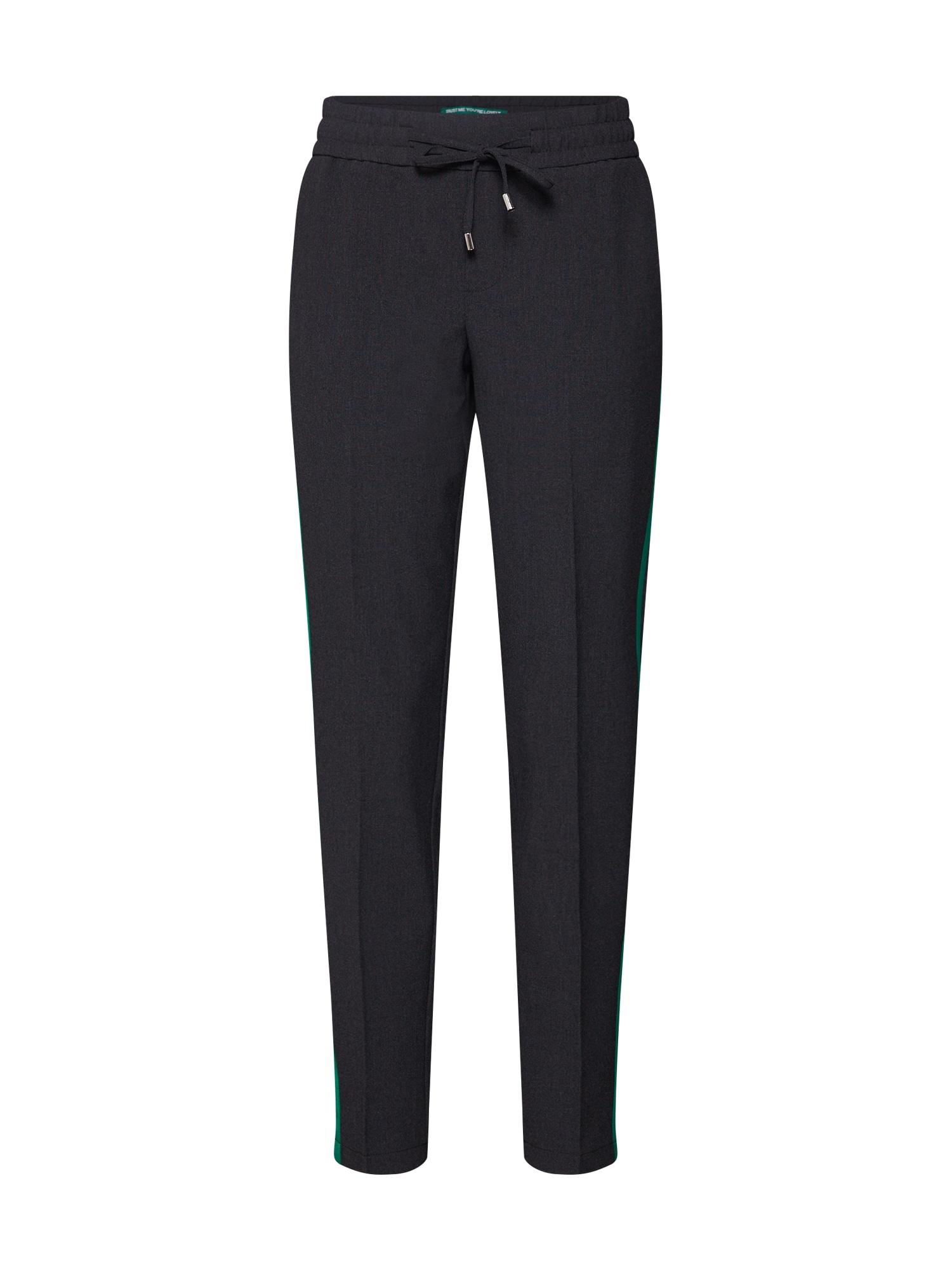 Kalhoty Fay Gallone antracitová šedý melír STREET ONE