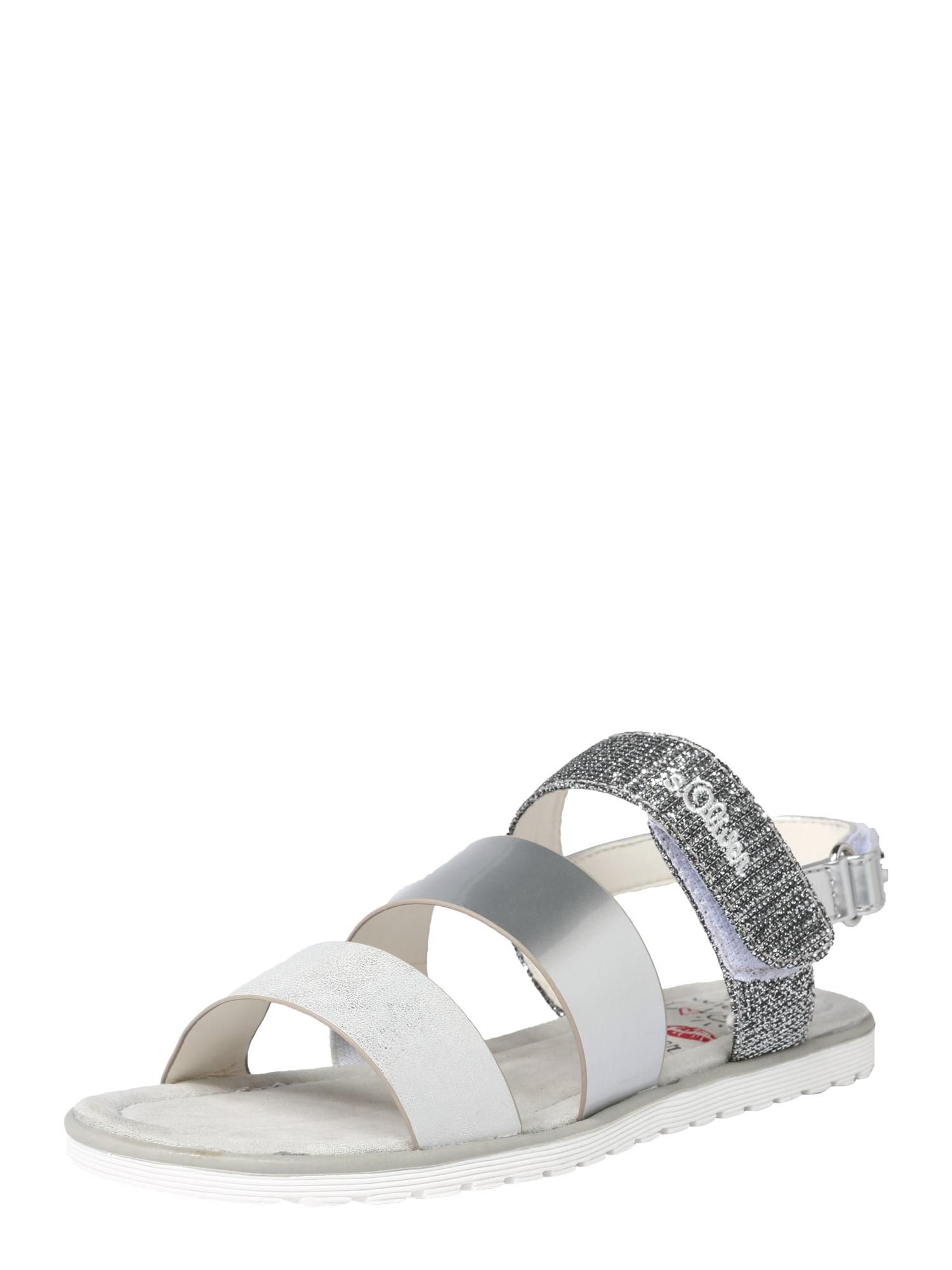 Sandály stříbrná bílá S.Oliver Junior