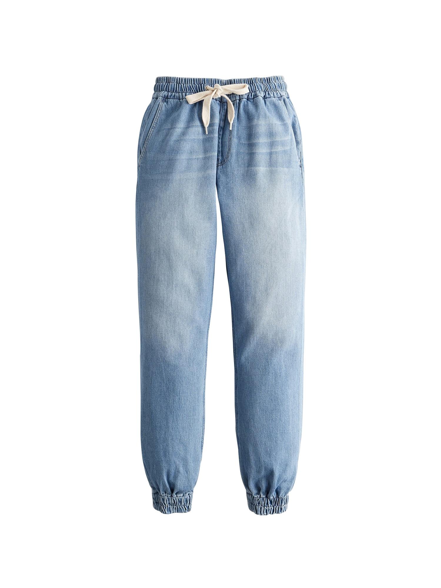 Kalhoty modrá džínovina HOLLISTER