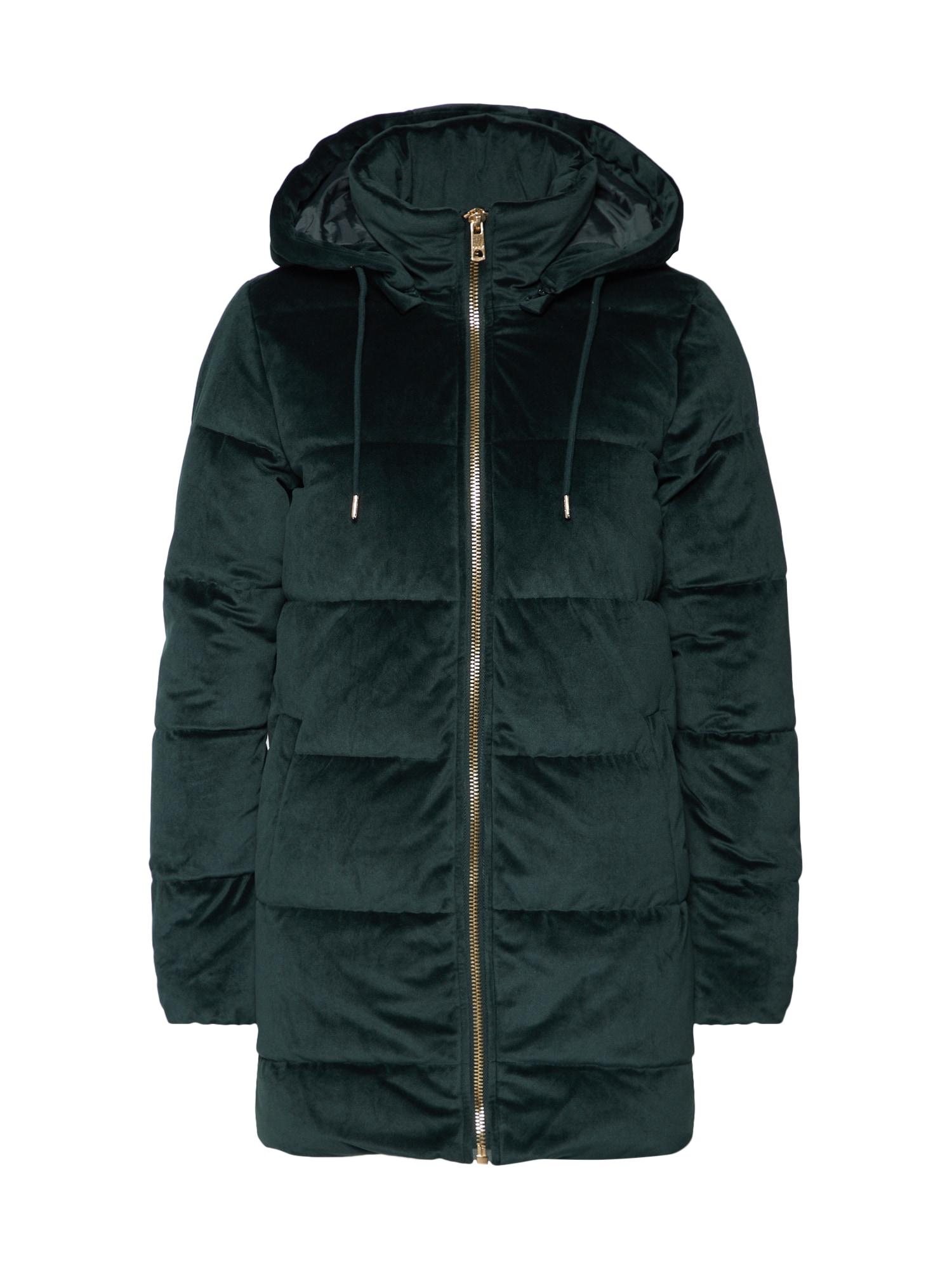Zimní kabát VERA zelená ONLY