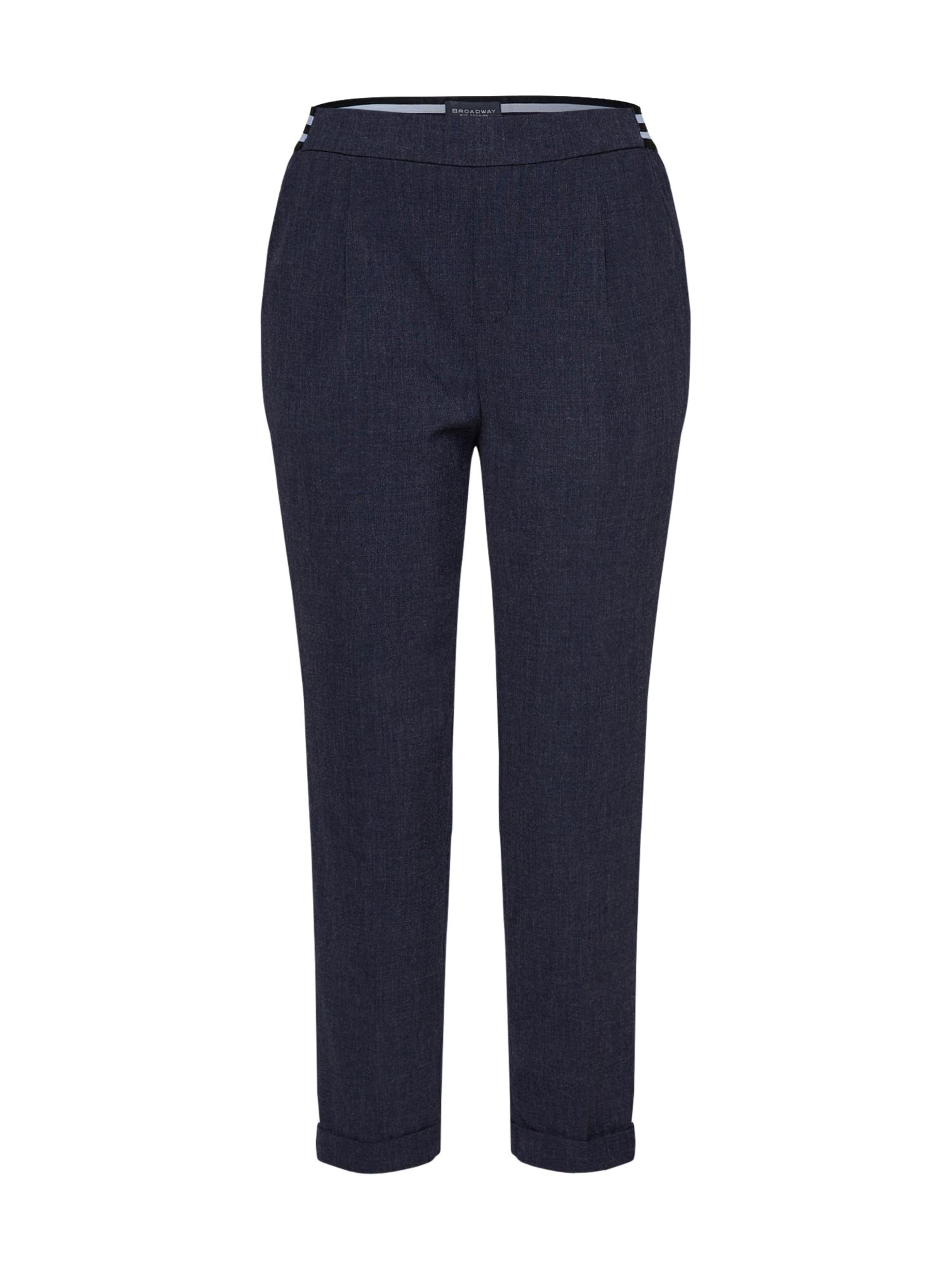 Kalhoty se sklady v pase Gabby tmavě modrá BROADWAY NYC FASHION