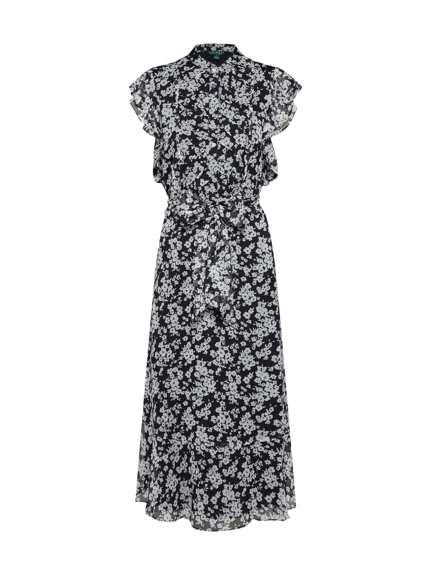 Letní šaty JANEVRA černá Lauren Ralph Lauren