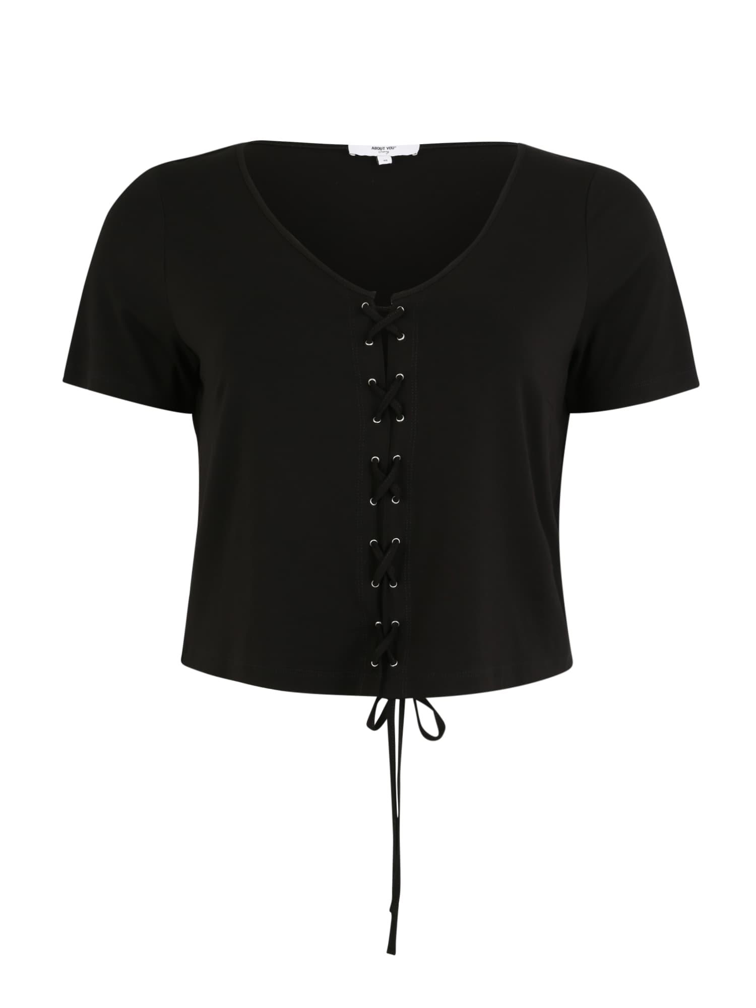 Tričko Tania černá ABOUT YOU Curvy