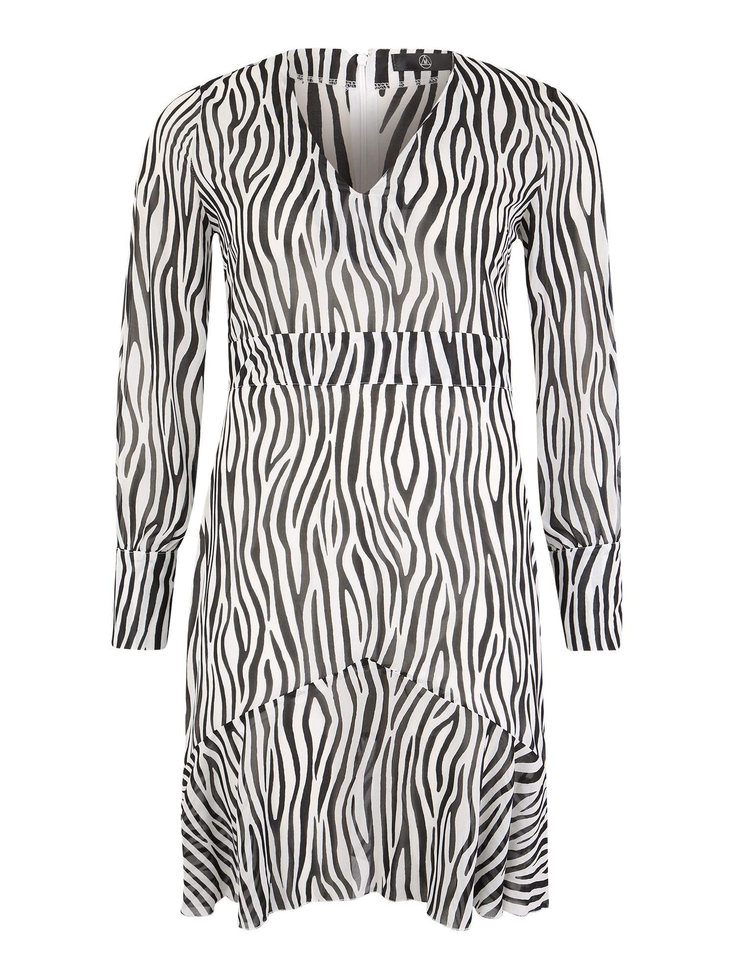 Šaty Curve Lace Up Midi Dress černá Missguided Plus