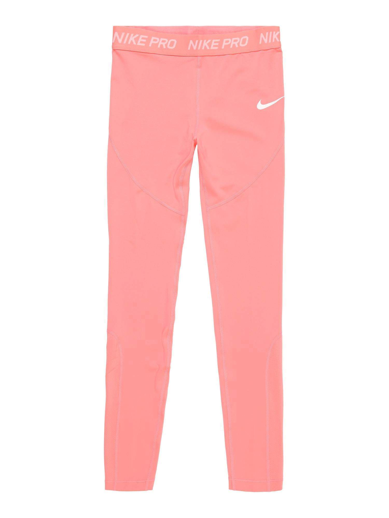 Sportovní kalhoty pink bílá NIKE