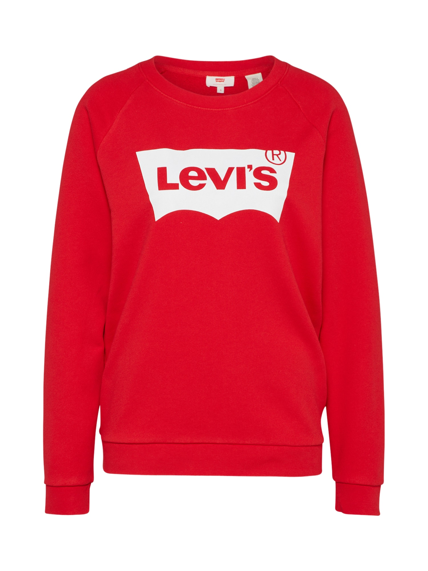 LEVI'S Dames Sweatshirt RELAXED GRAPHIC CREW rood