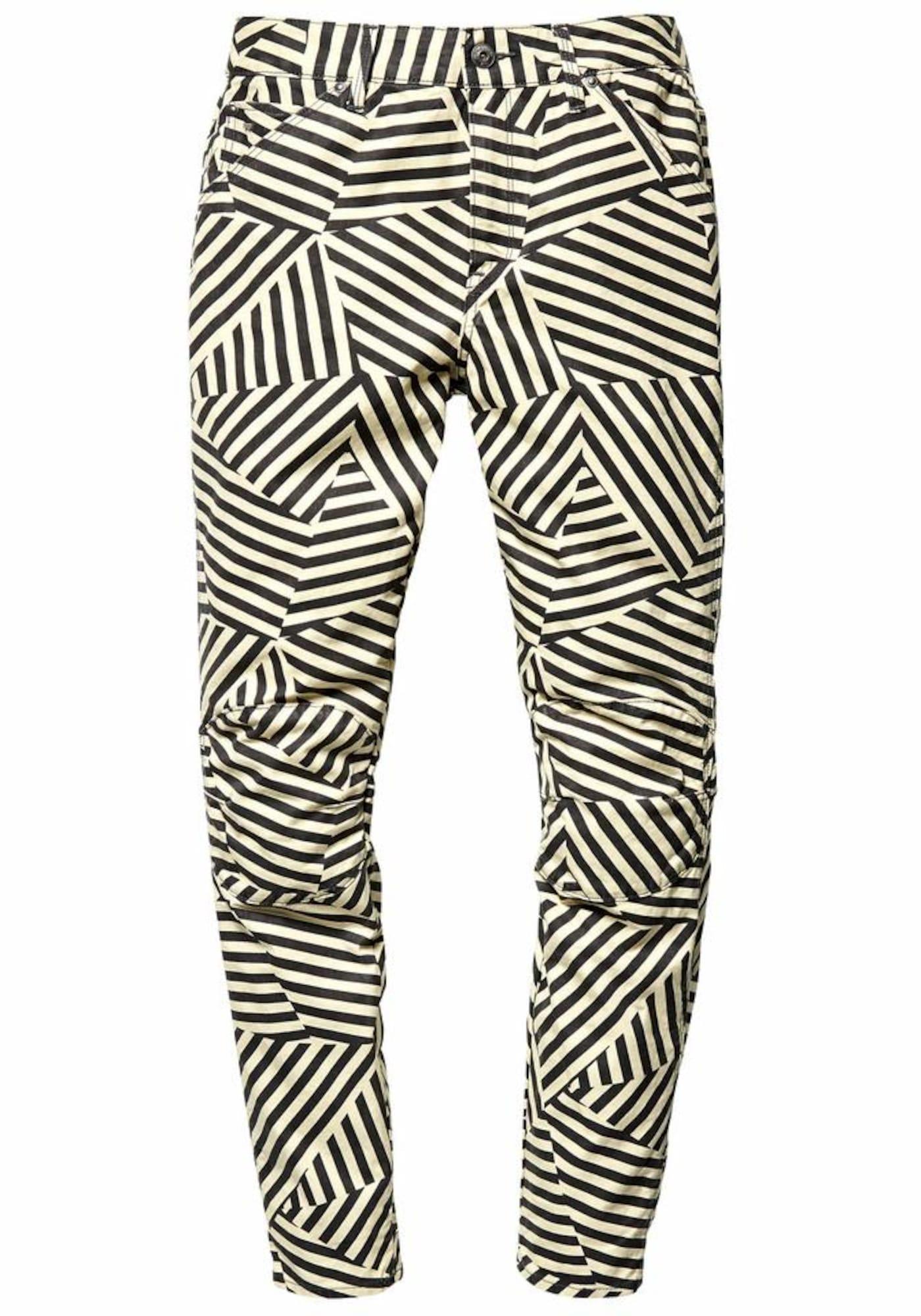 G-STAR RAW Dames Jeans Elwood 5622 3D mid boyfried COJ beige zwart