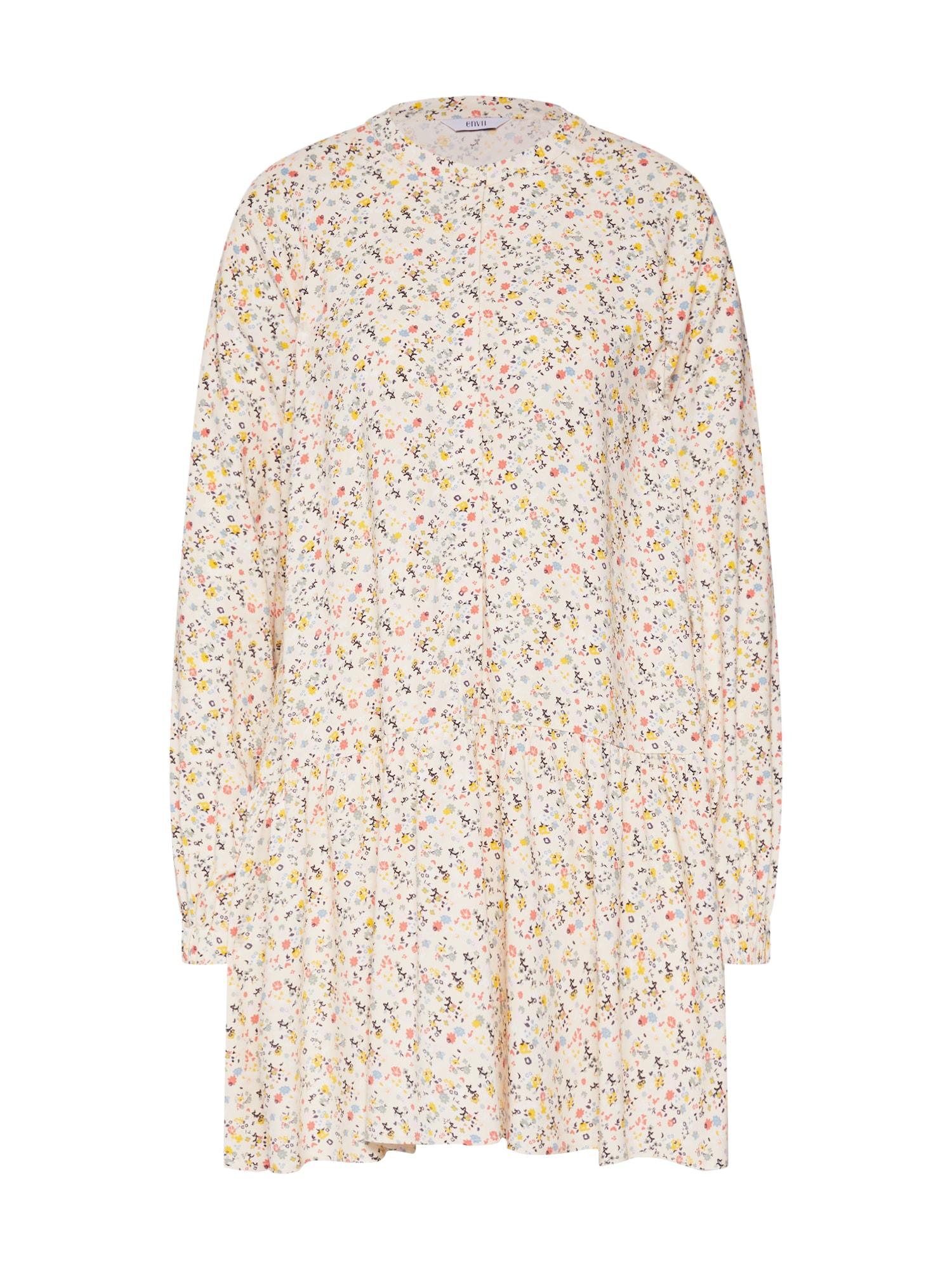 Košilové šaty ENART LS DRESS AOP béžová mix barev Envii