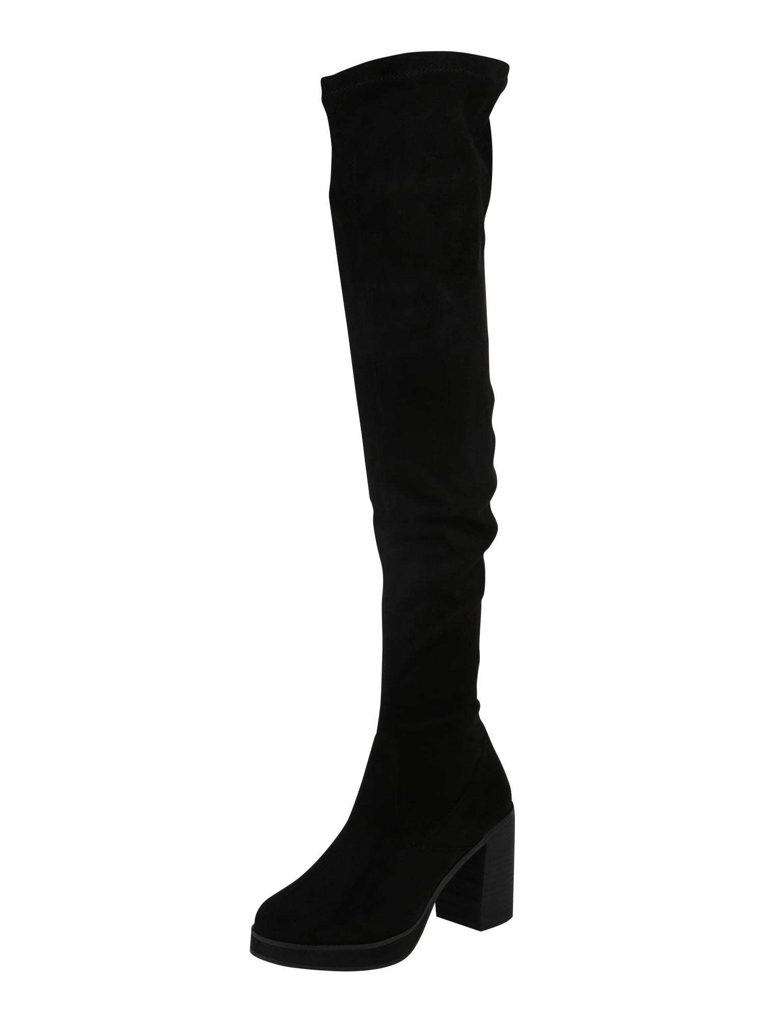 Kozačky nad kolena ZLB2504 černá Even&odd