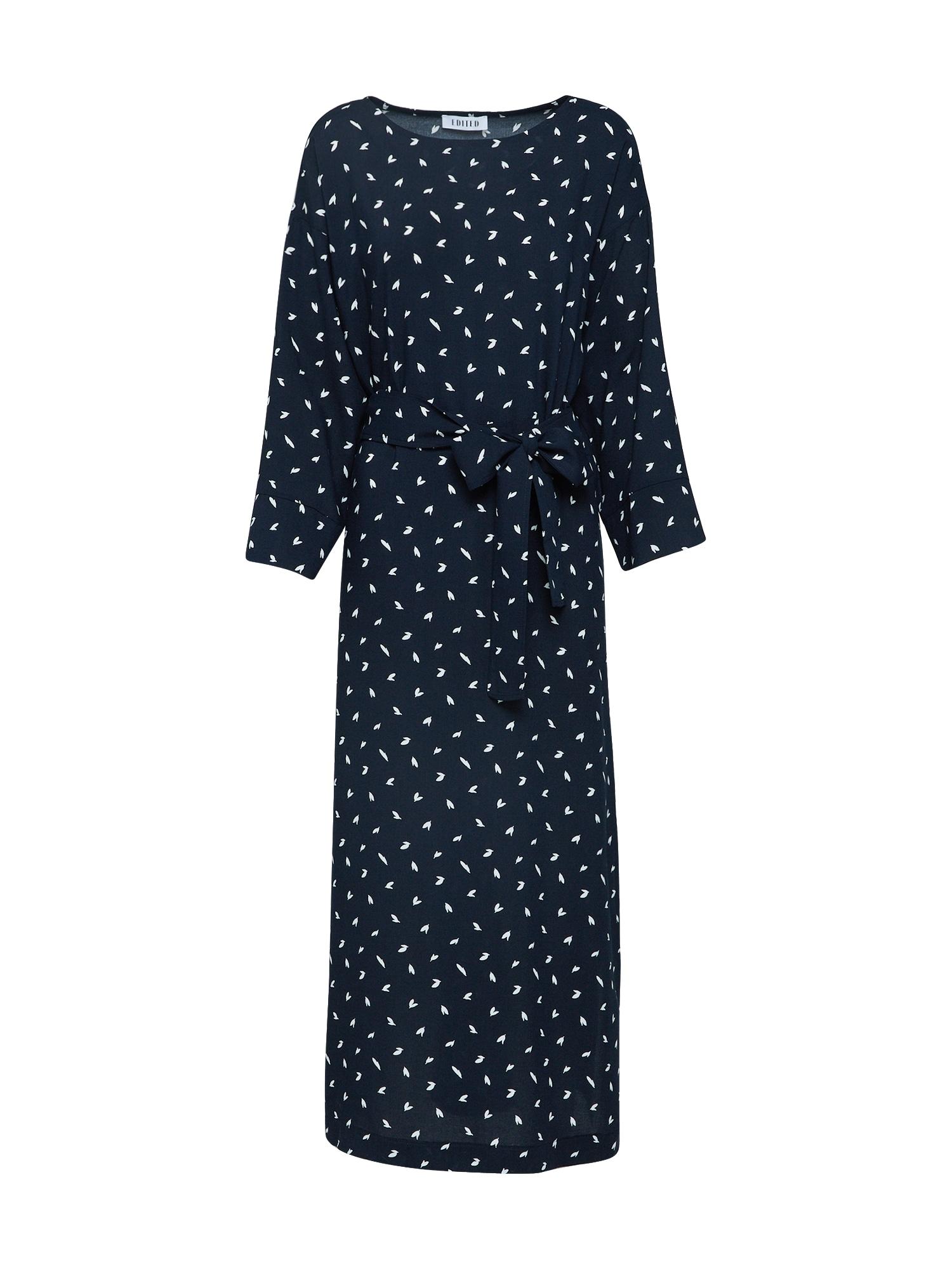 EDITED Šaty 'Aurelien'  noční modrá / bílá