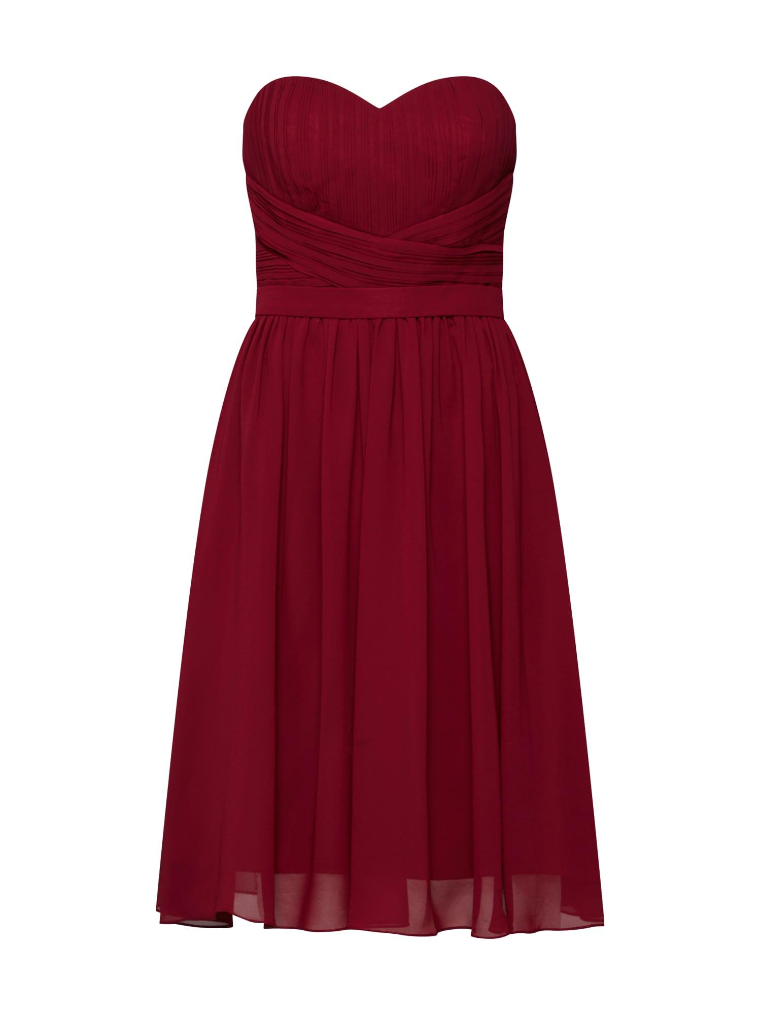 Koktejlové šaty vínově červená Mascara