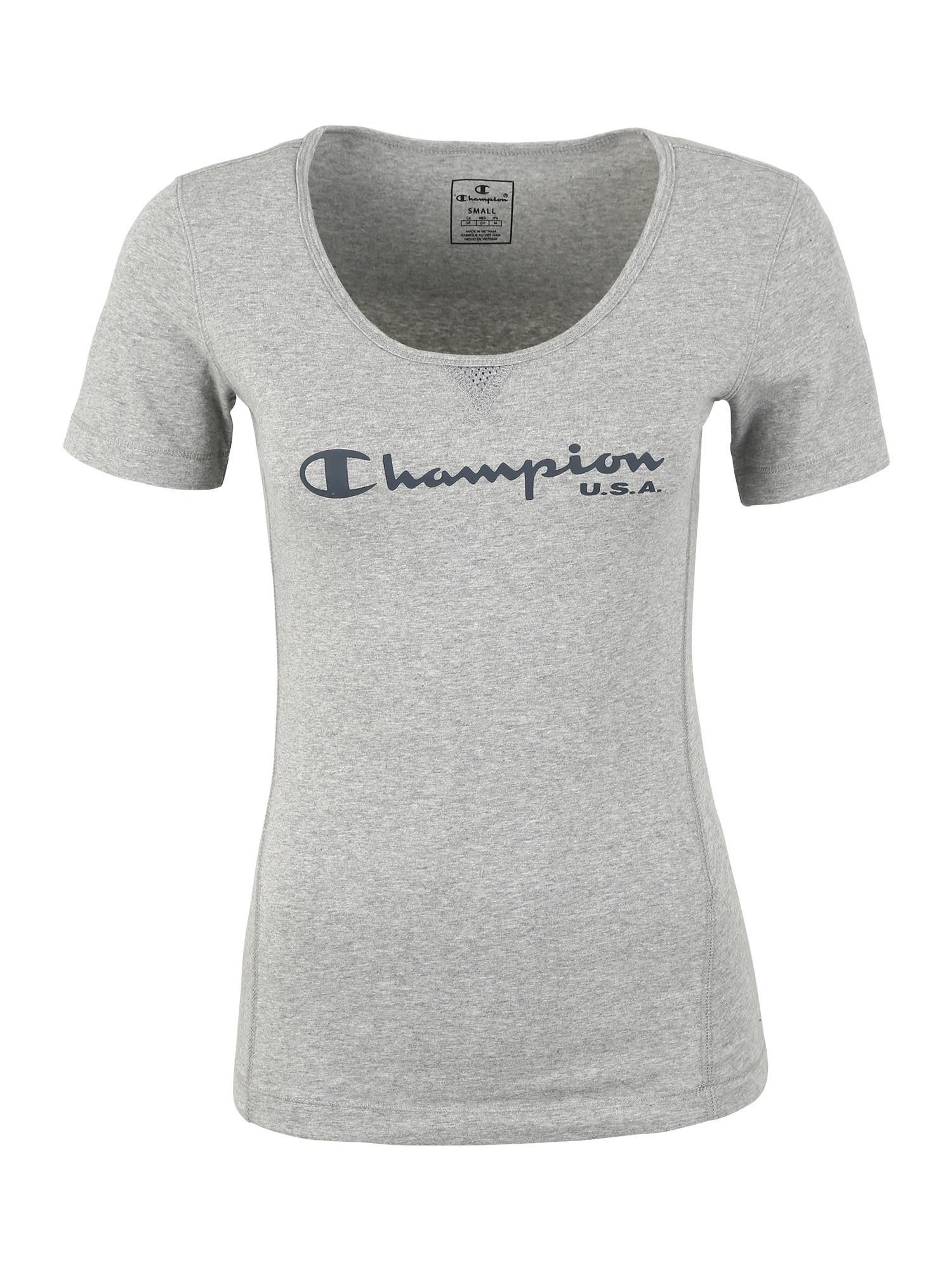 Funkční tričko šedá černá Champion Authentic Athletic Apparel