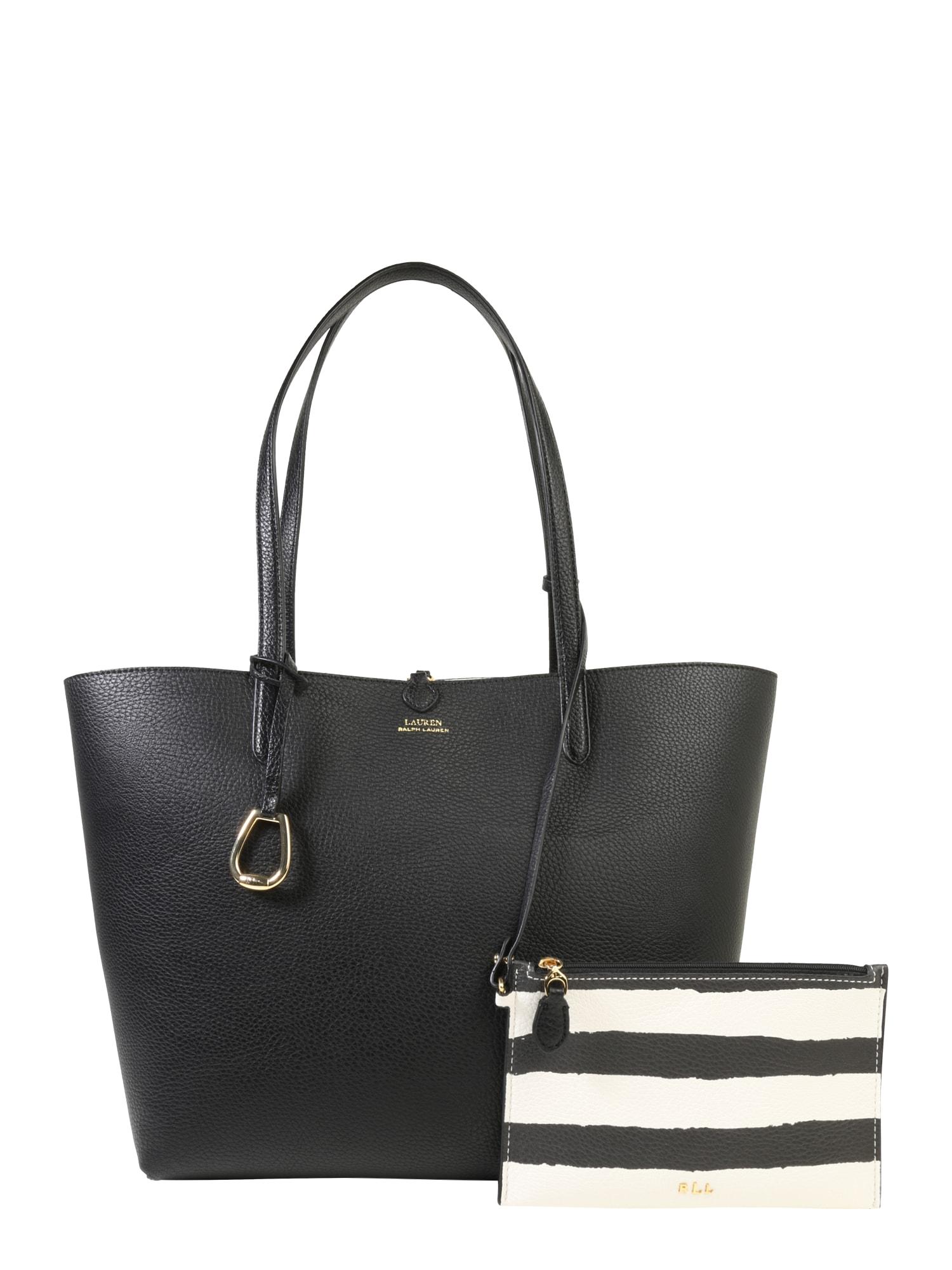 Nákupní taška RVRSBLE TOTE-TOTE-MEDIUM černá Lauren Ralph Lauren