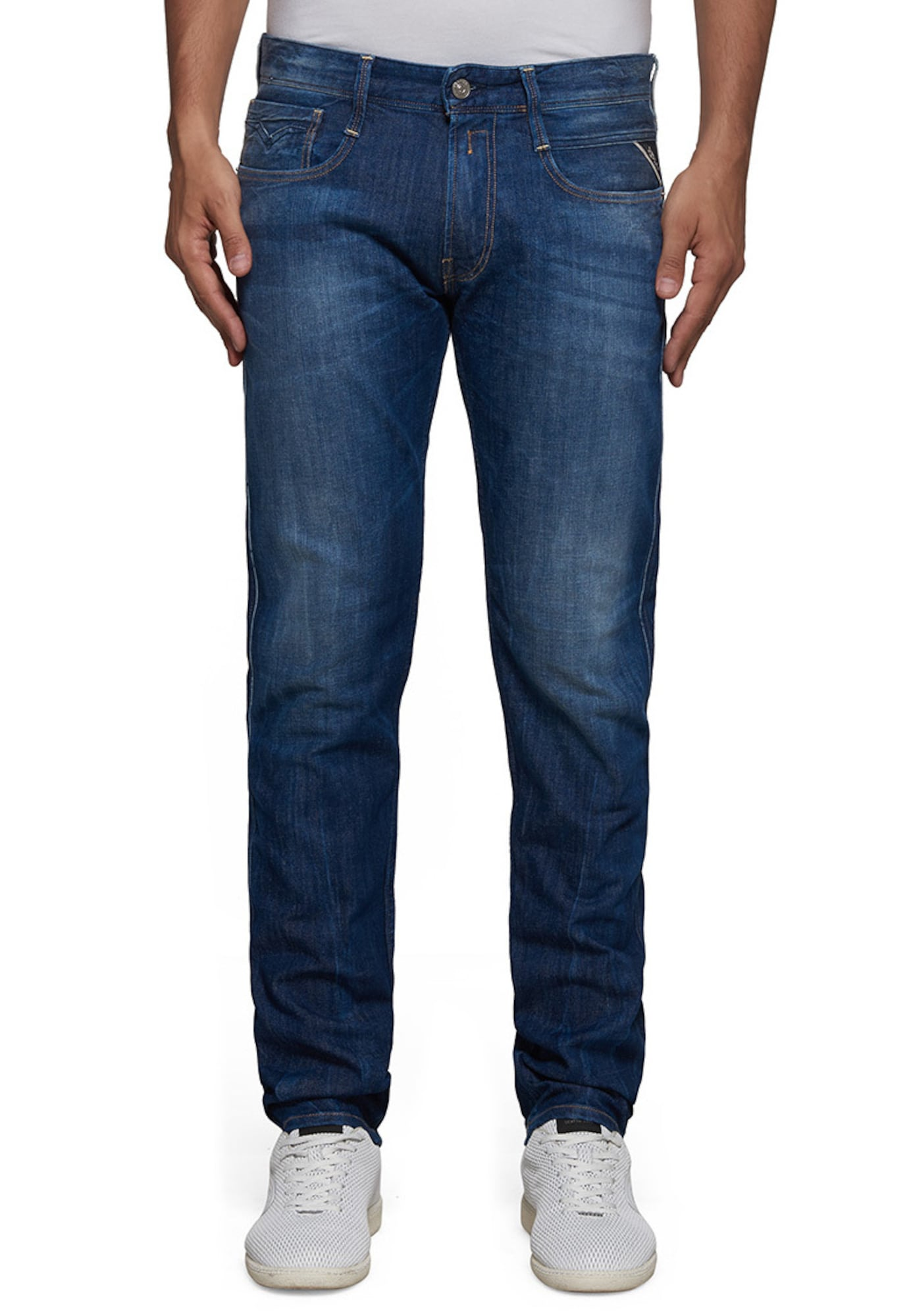 REPLAY Heren Jeans blue denim