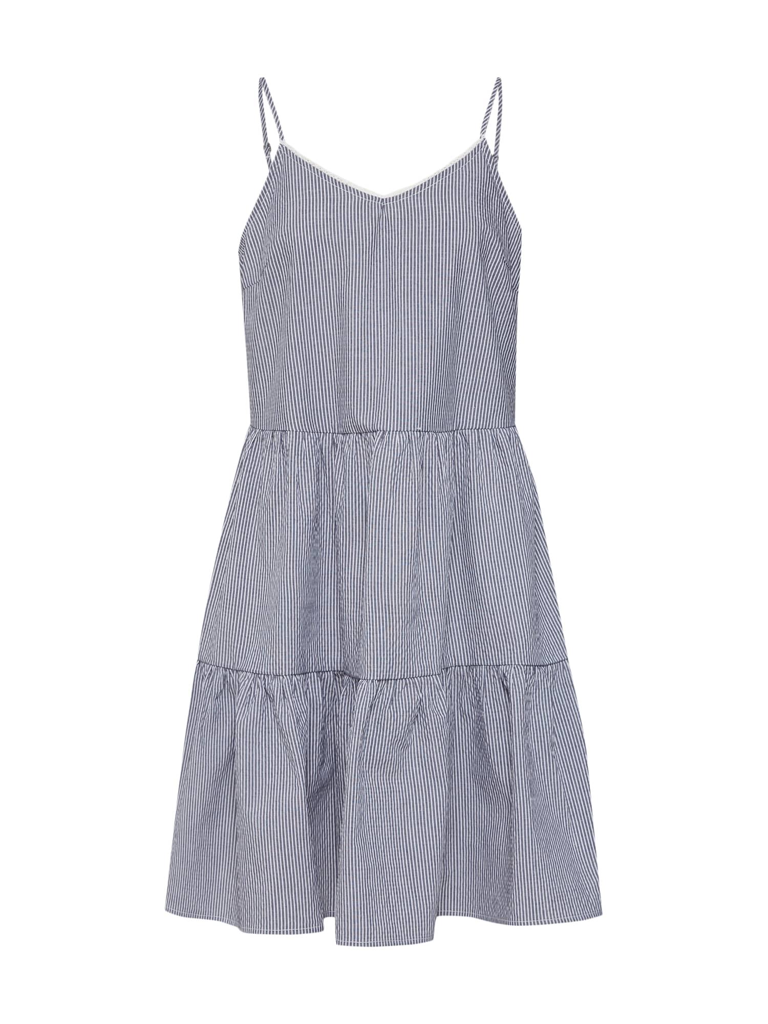Letní šaty VMJANE ABK SINGLET DRESS noční modrá bílá VERO MODA