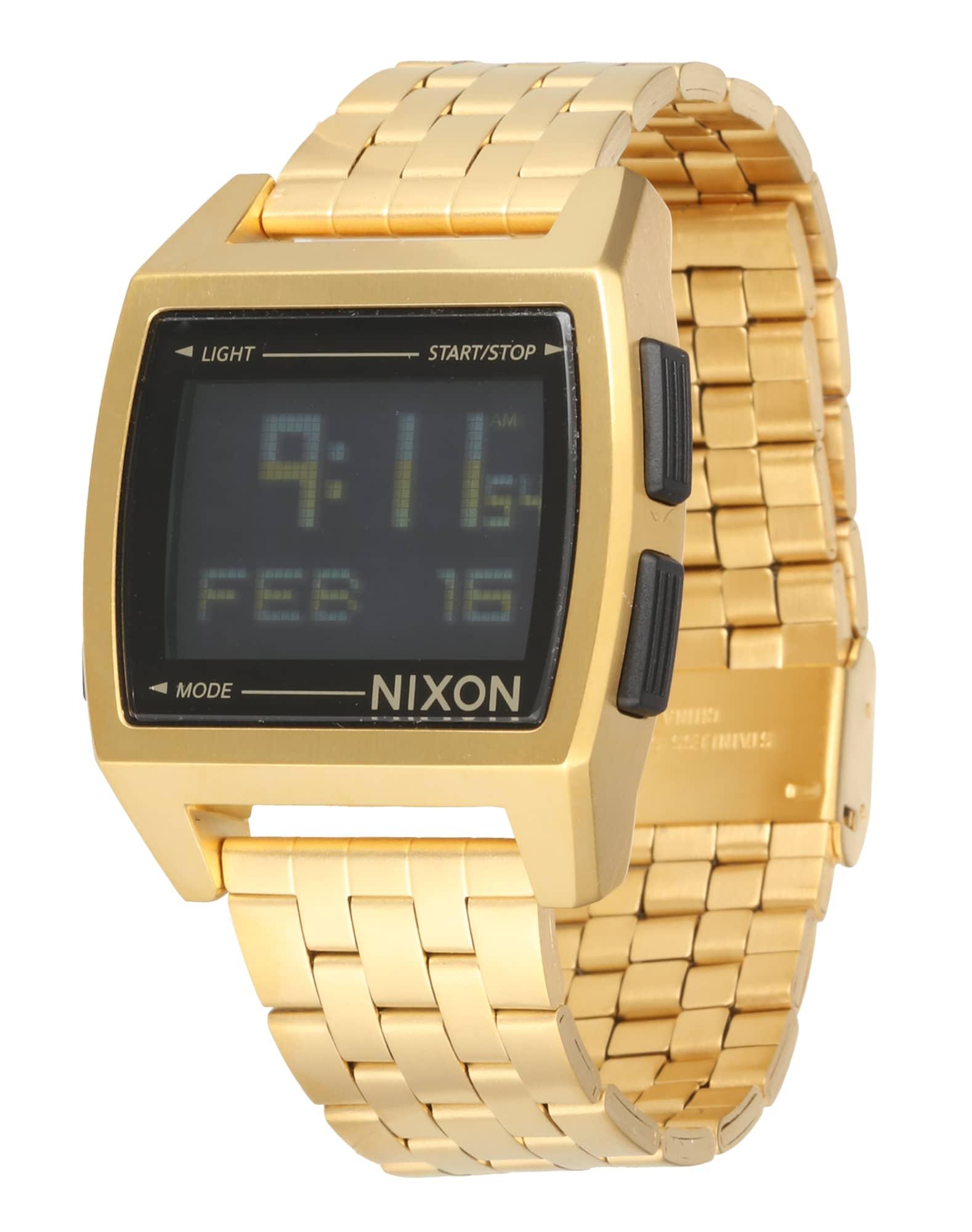 Digitální hodinky Base zlatá Nixon