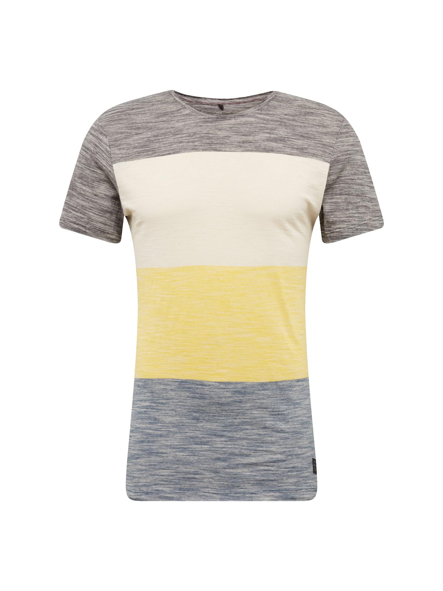 Tričko TEE modrá tmavě modrá žlutá BLEND