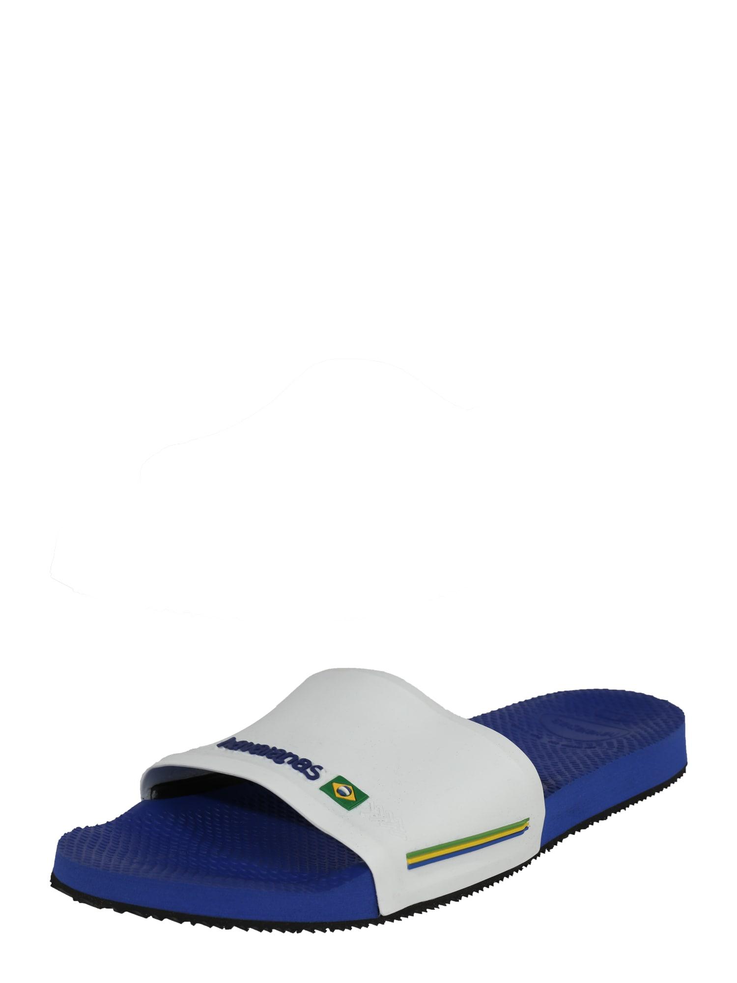Pantofle Slide Brasil marine modrá bílá HAVAIANAS