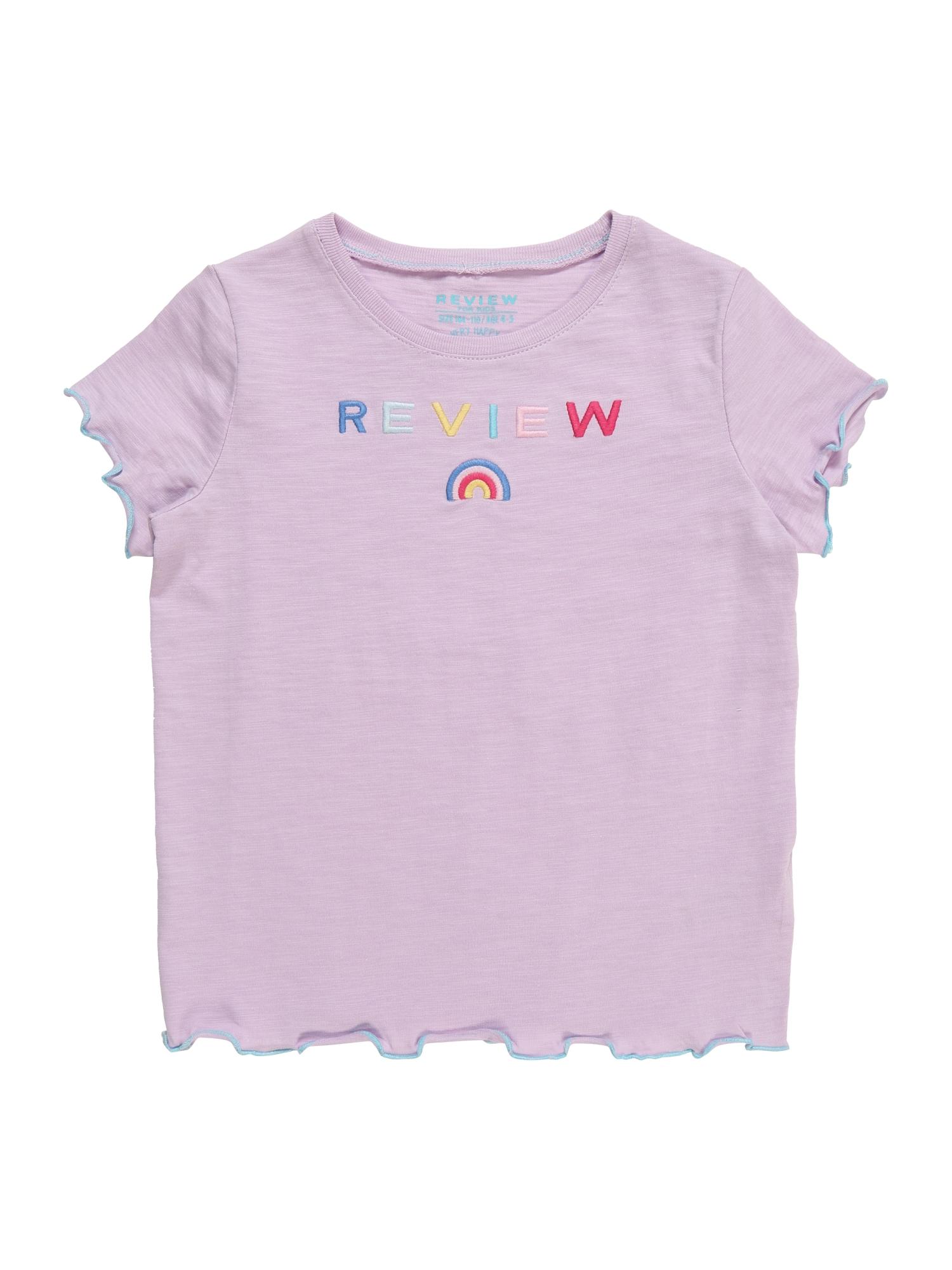 Tričko KG-19-T212 bledě fialová mix barev REVIEW FOR KIDS