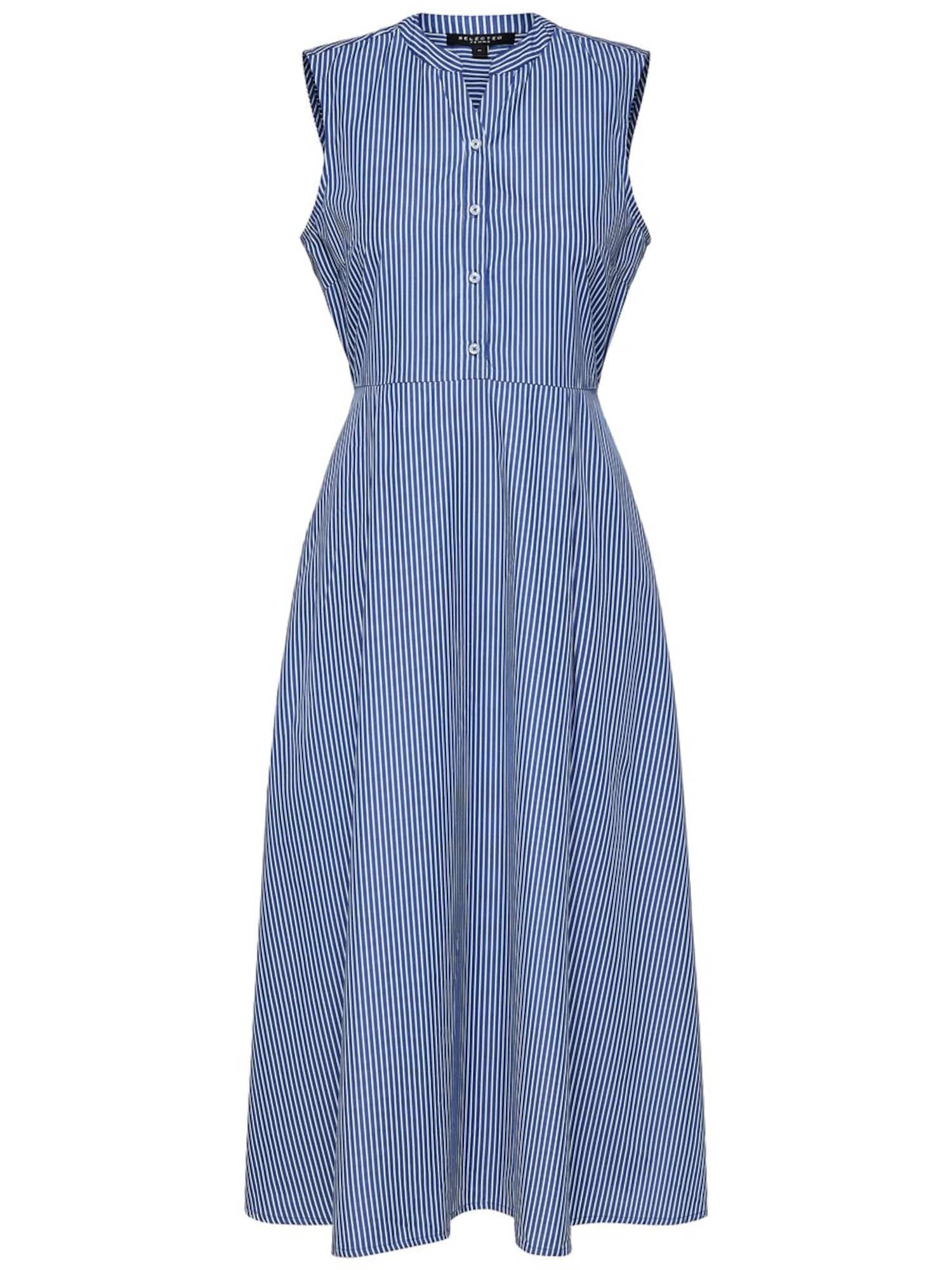 Košilové šaty Althea modrá bílá SELECTED FEMME