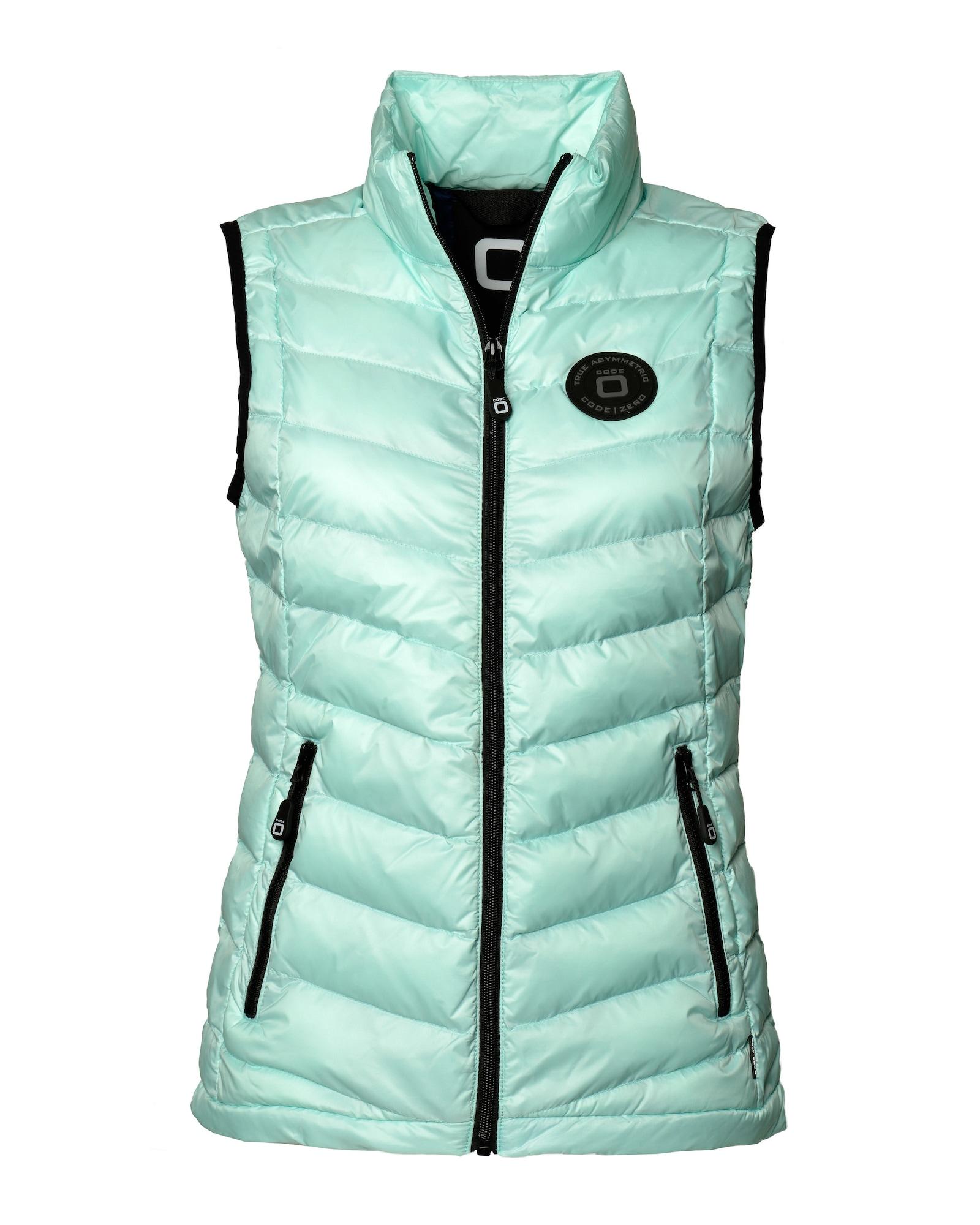 CODE-ZERO, Dames Bodywarmer 'Jackyard', turquoise / zwart