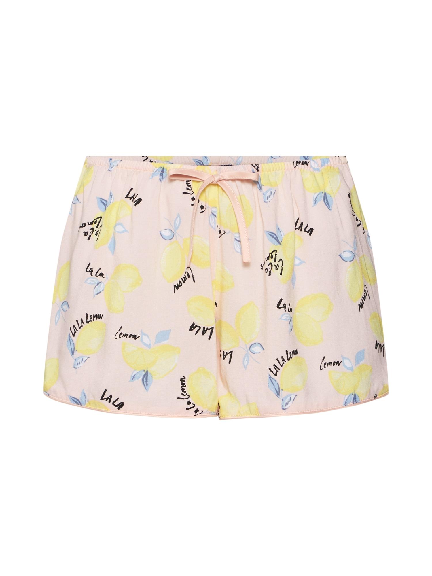 Pyžamové kalhoty Lemon žlutá meruňková Hunkemöller