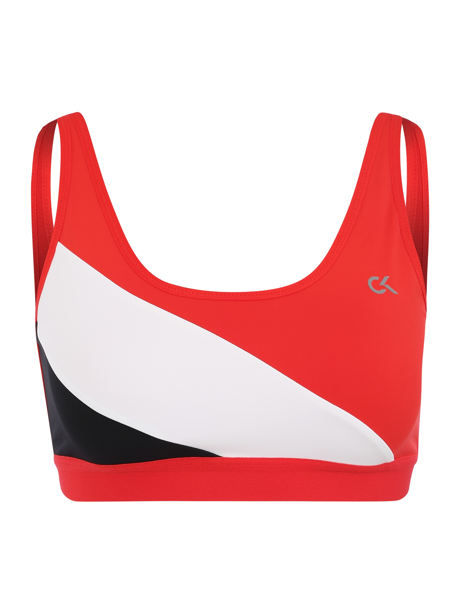 Sportovní podprsenka červená bílá Calvin Klein Performance