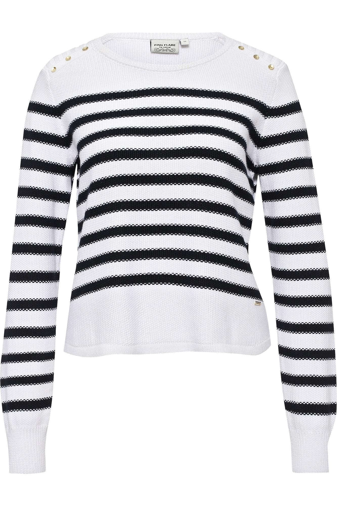 Streifenpullover   Bekleidung > Pullover > Streifenpullover   Weiß   Finn Flare
