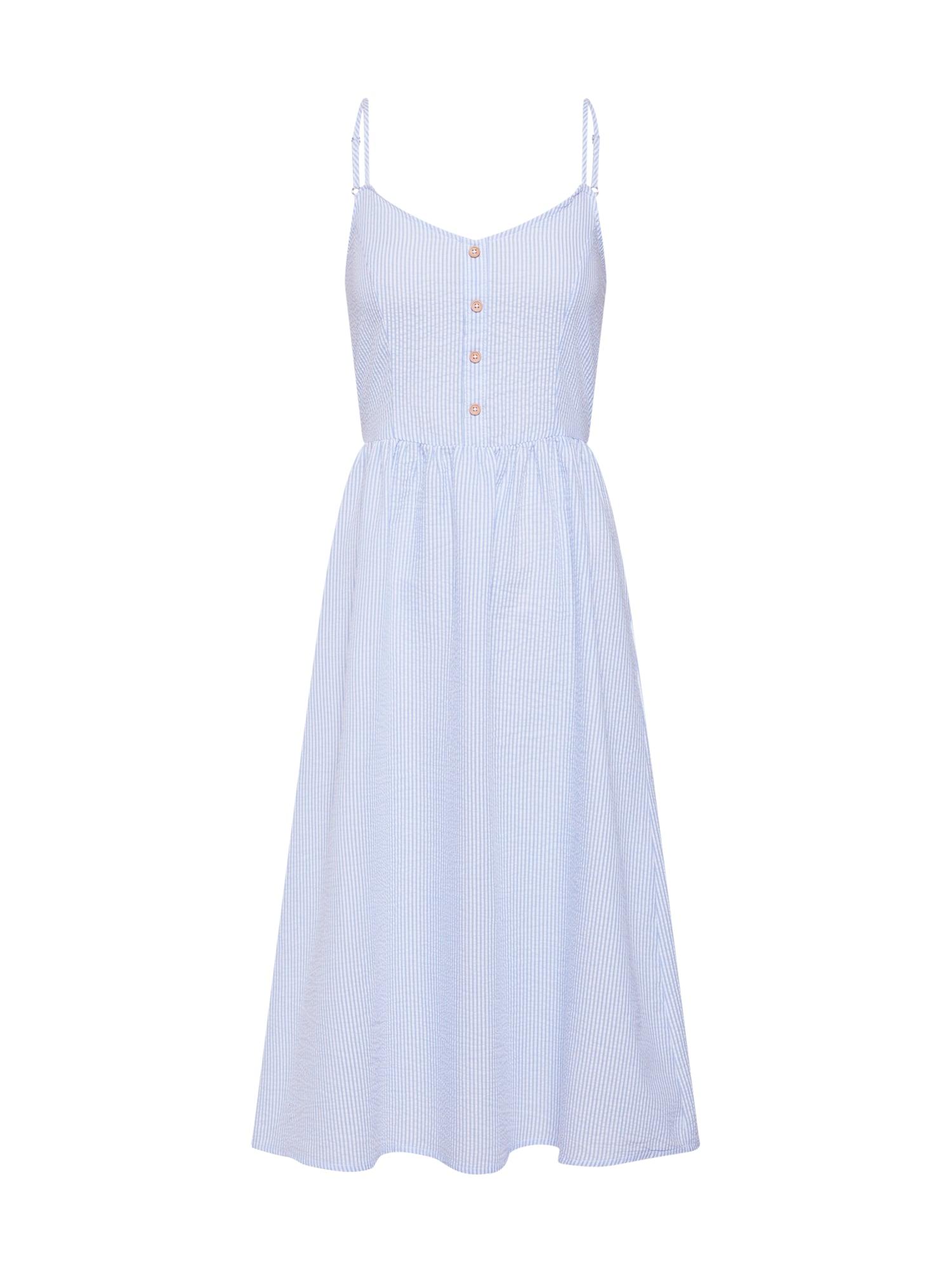 Letní šaty JDYKARIM světlemodrá bílá JACQUELINE De YONG
