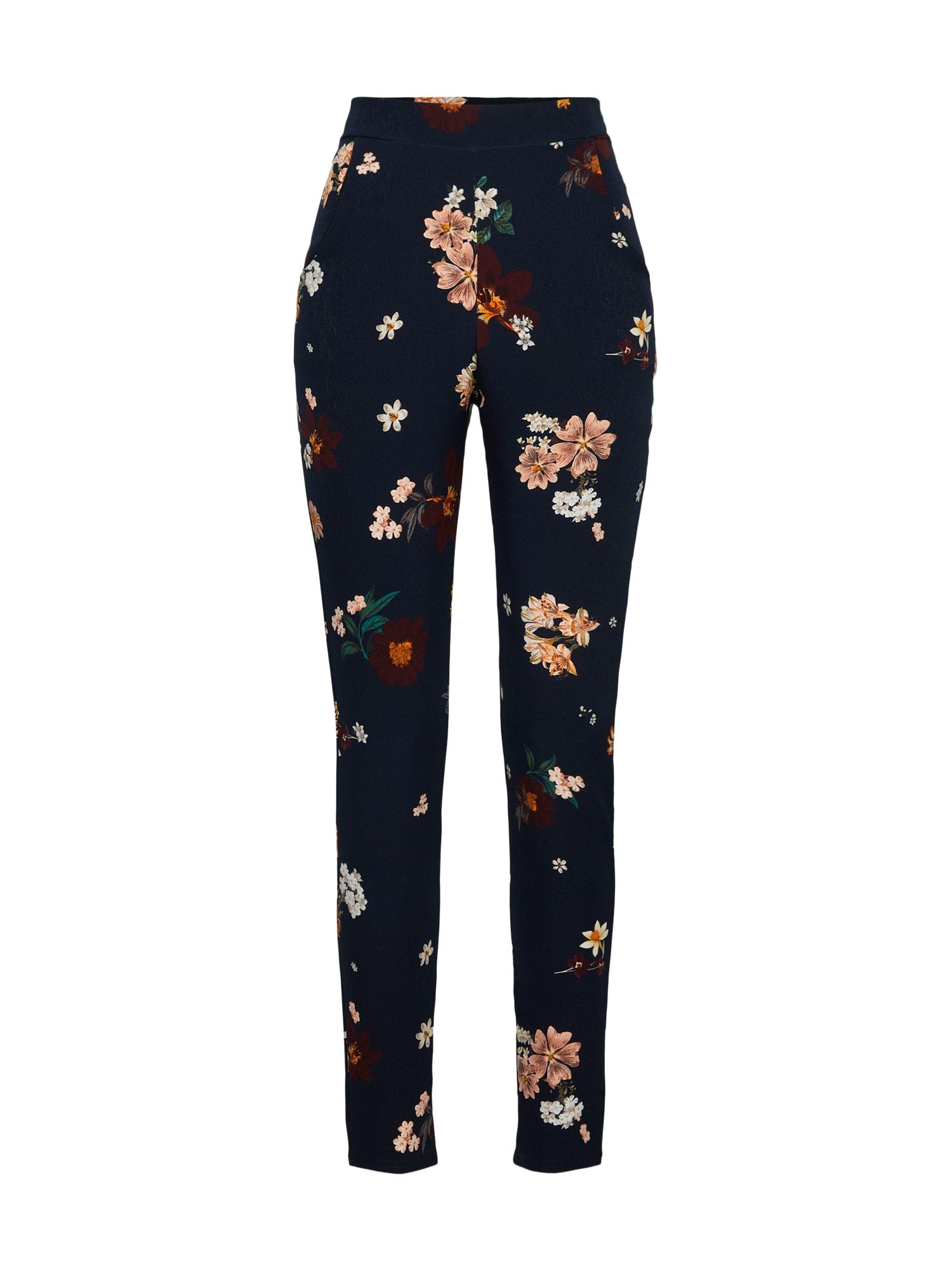 Kalhoty Floral Cigarette Trousers noční modrá mix barev Boohoo