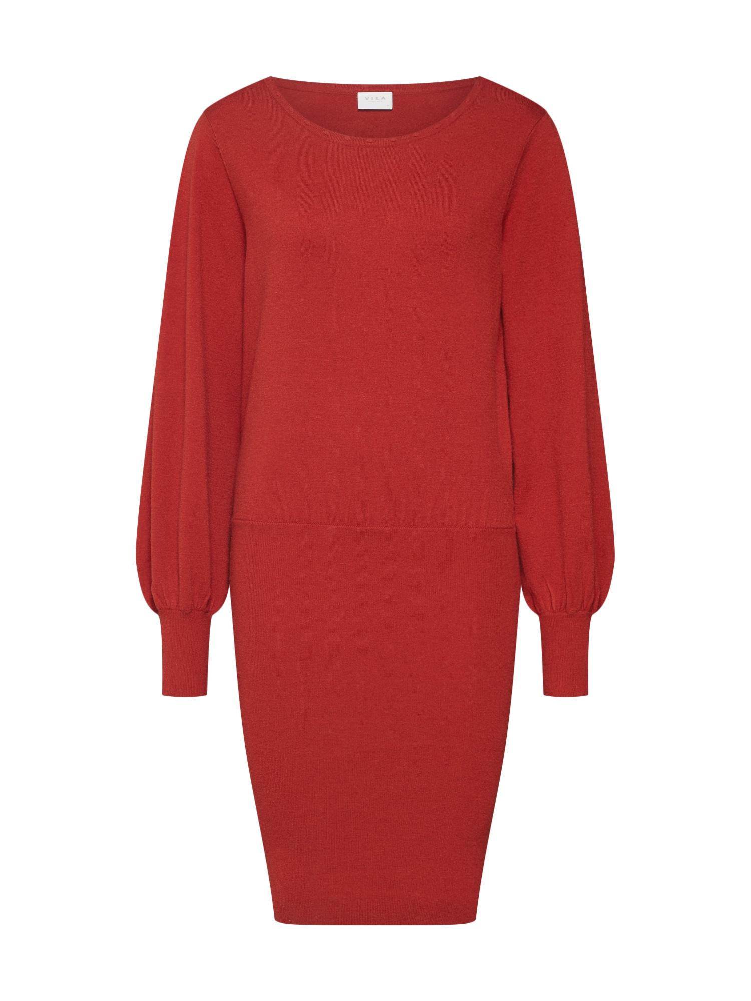 Úpletové šaty VISTI červená VILA