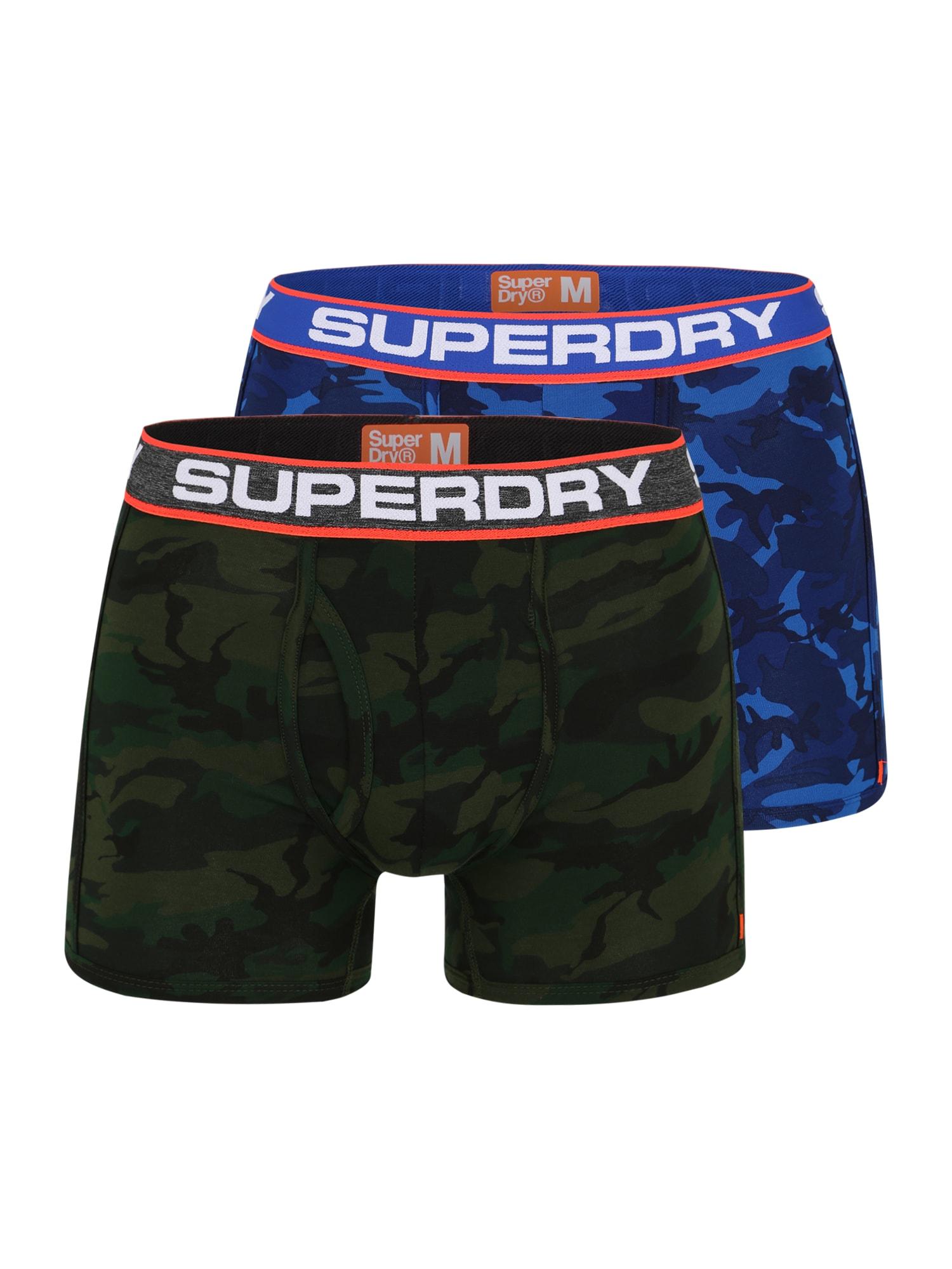 Boxerky modrá Superdry