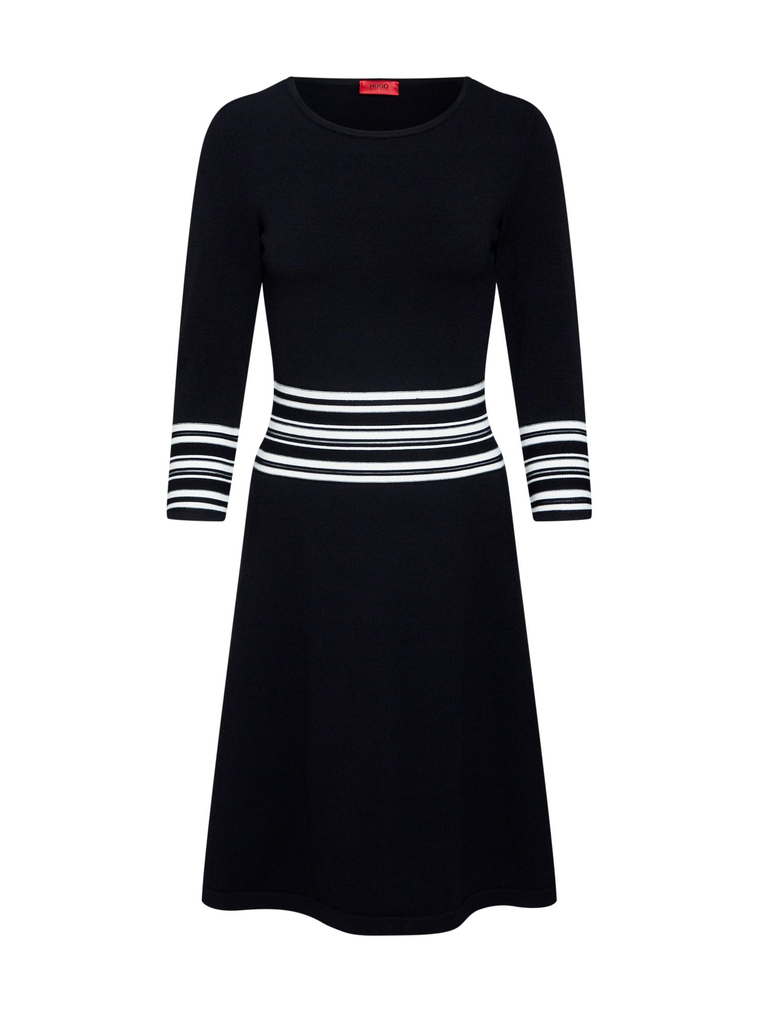Úpletové šaty Sandreyya černá HUGO