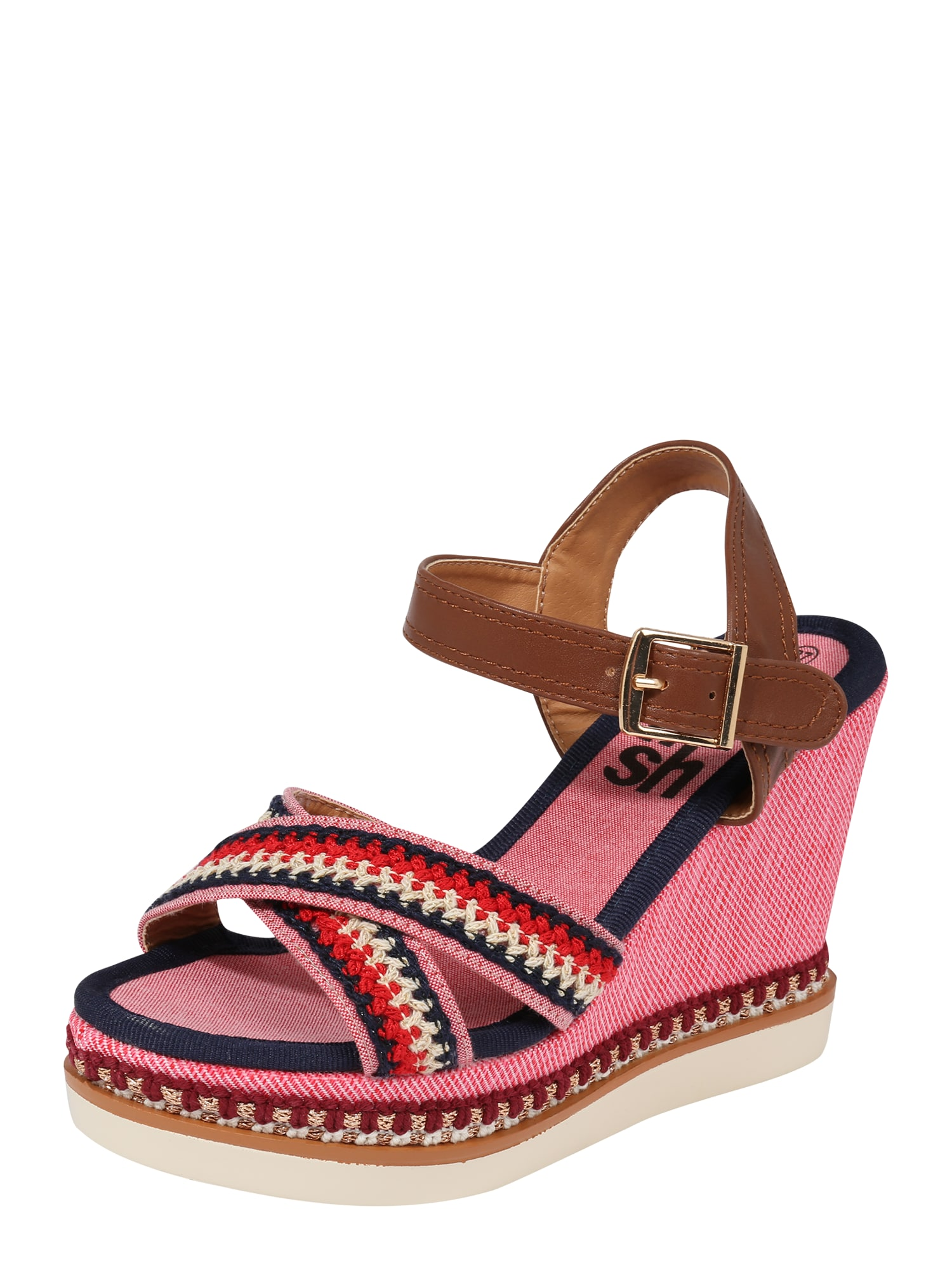 Sandály hnědá červená Refresh