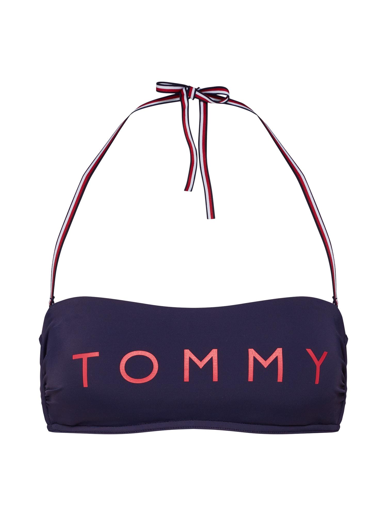 Horní díl plavek Bandeau RP námořnická modř světle červená Tommy Hilfiger Underwear