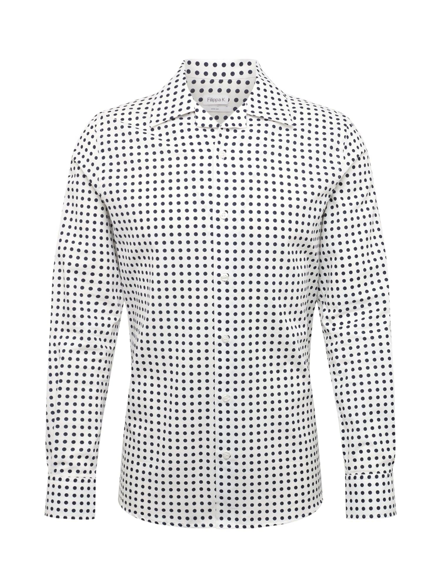 Košile M. Jean-Paul Dot Print Shirt námořnická modř bílá Filippa K