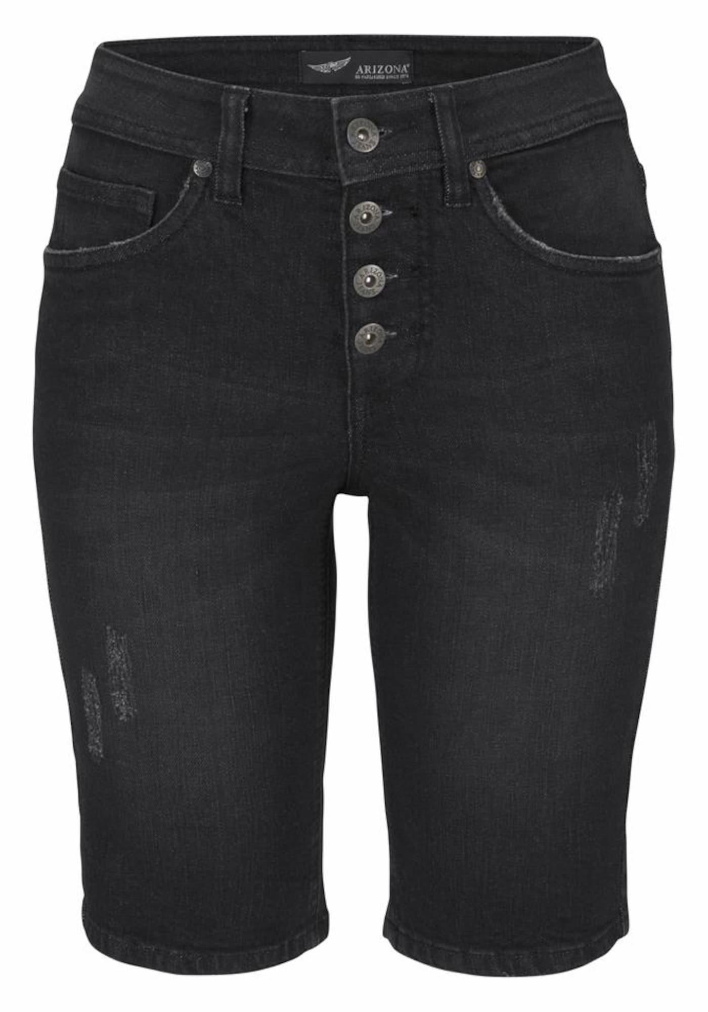 Jeansbermudas | Bekleidung > Jeans > Shorts & Bermudas | Schwarz | ARIZONA